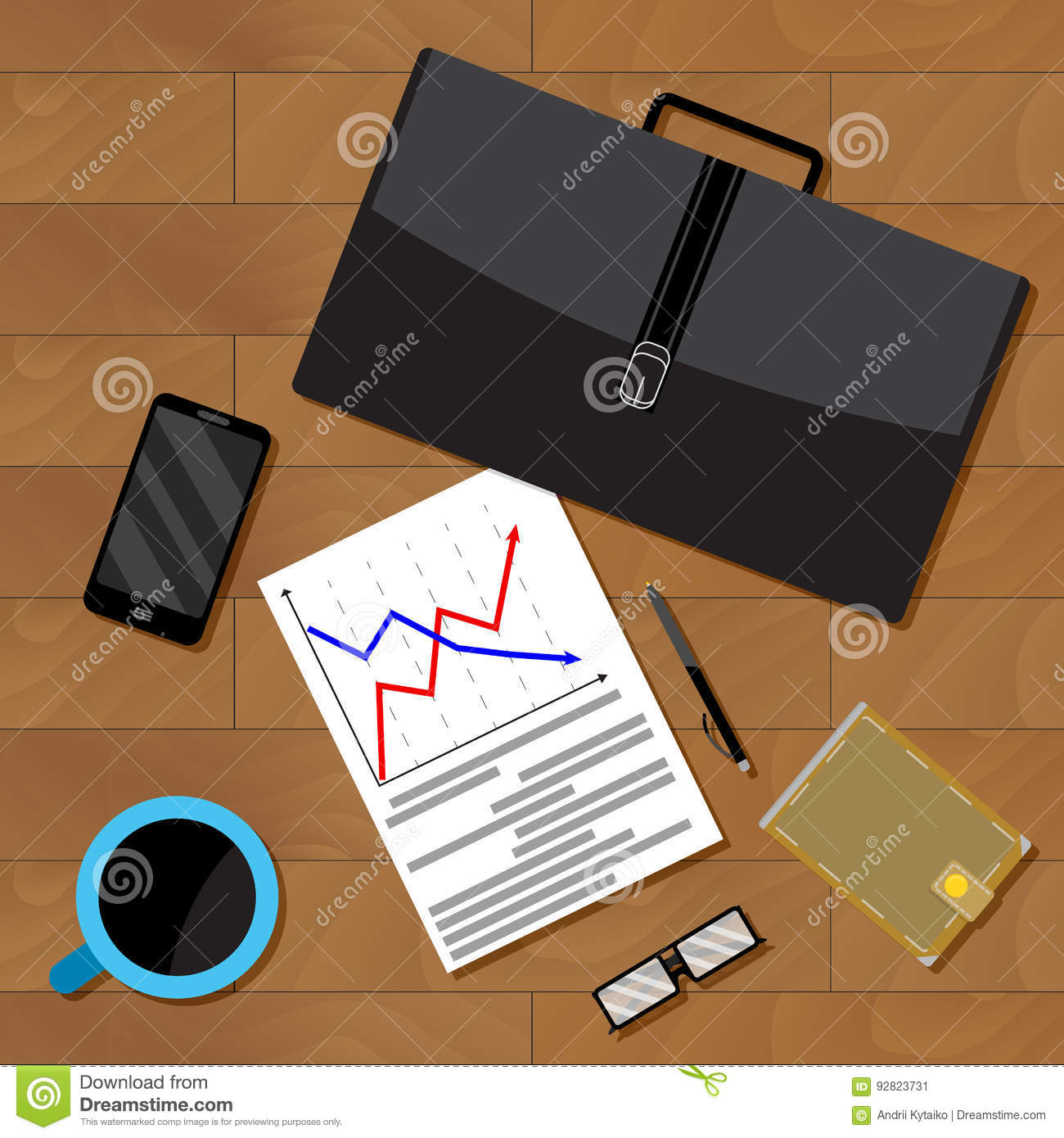 Economist Jobs Data Analysis Cartoon Vector