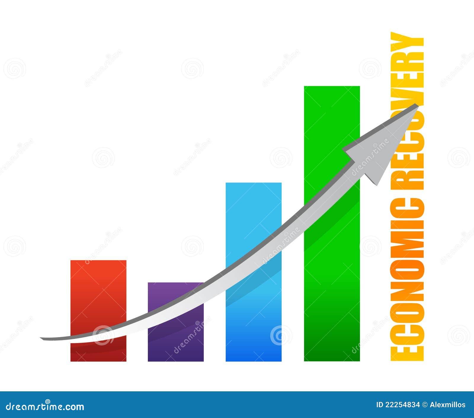 Economy Recovery Chart Arrow Illustration Stock Vector