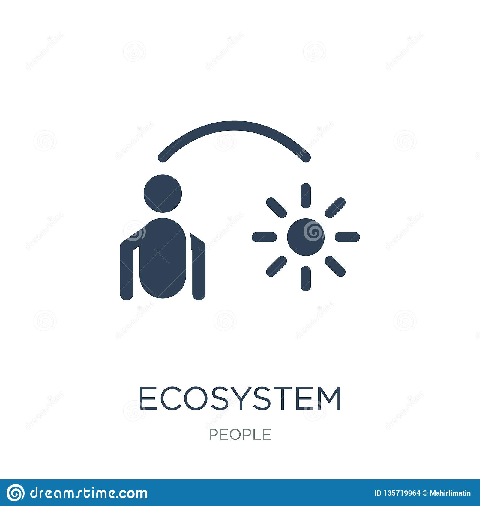 ecosystem icon in trendy design style. ecosystem icon isolated on white background. ecosystem vector icon simple and modern flat