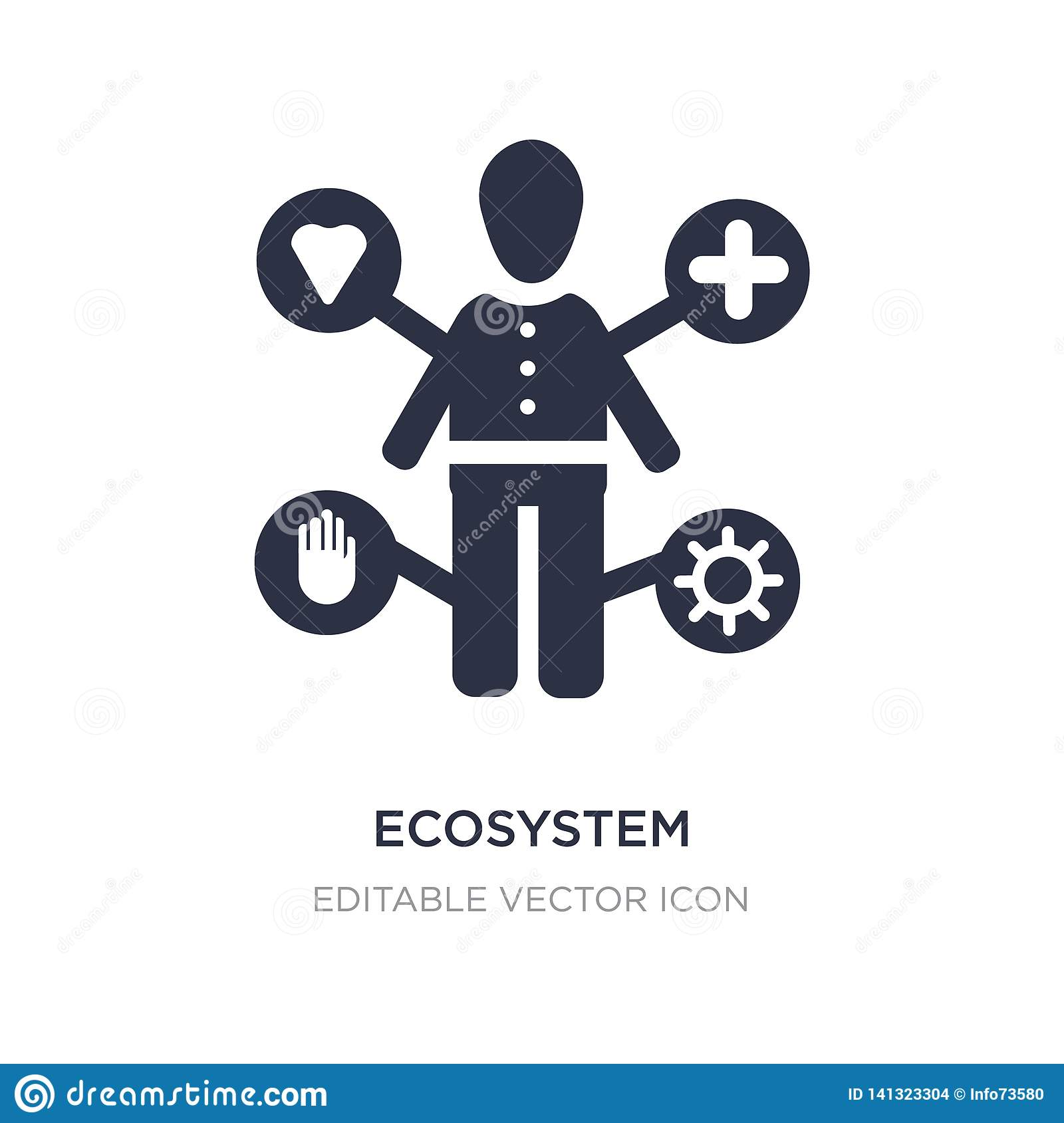 ecosystem icon on white background. Simple element illustration from People concept