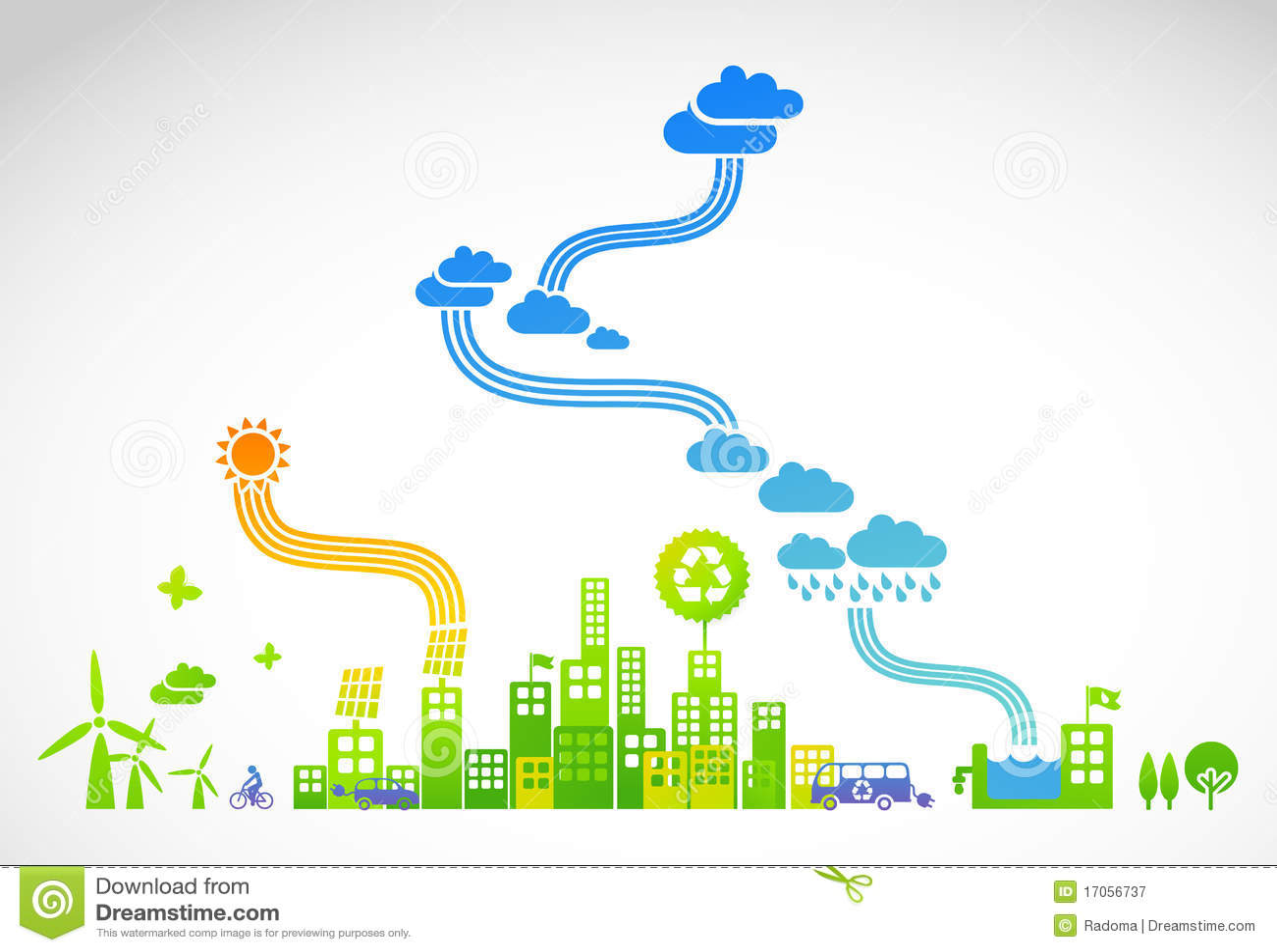 Ecotown - ilustração creativa