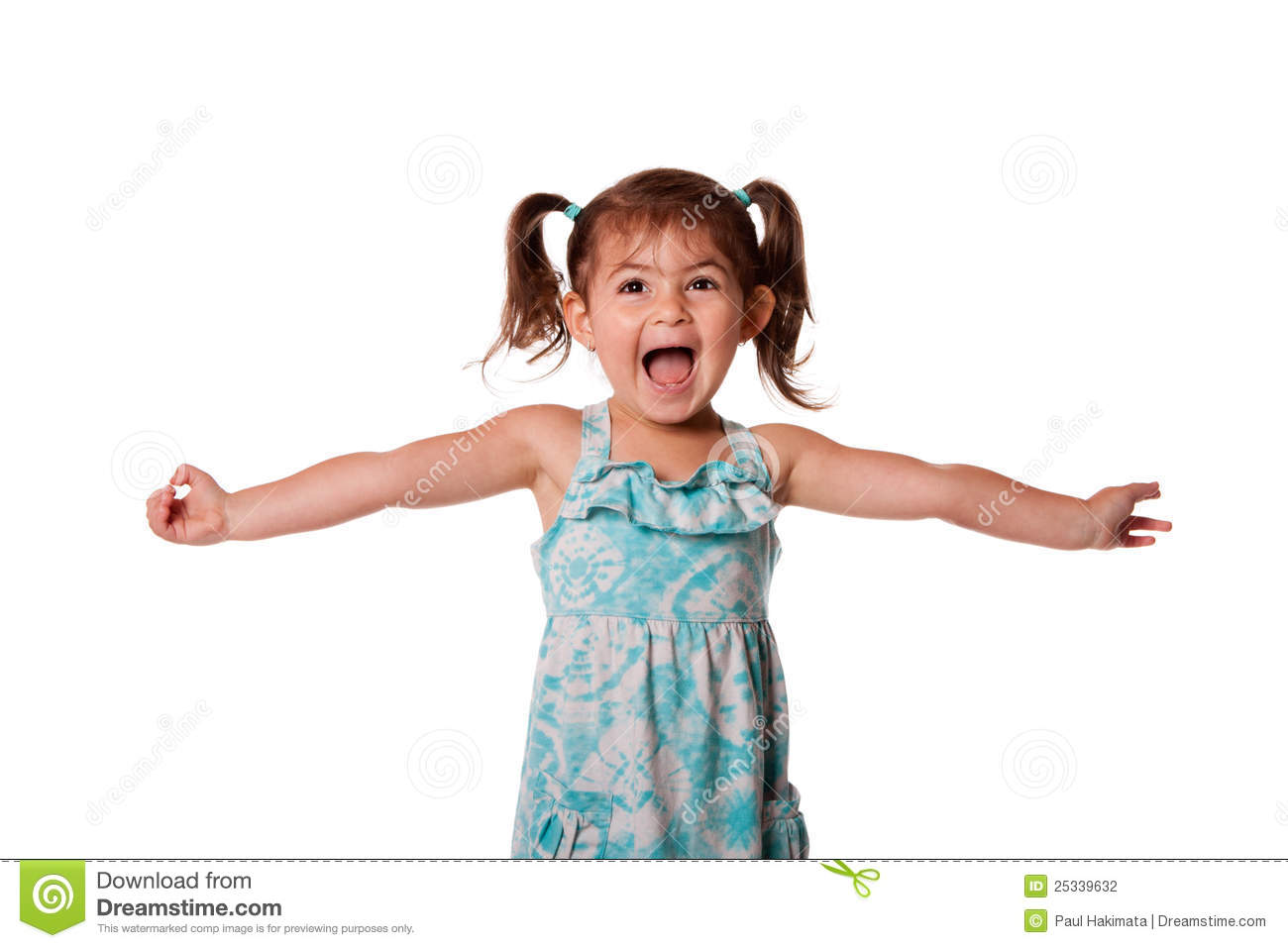 Cute beautiful funny ecstatic happy little toddler girl celebrating