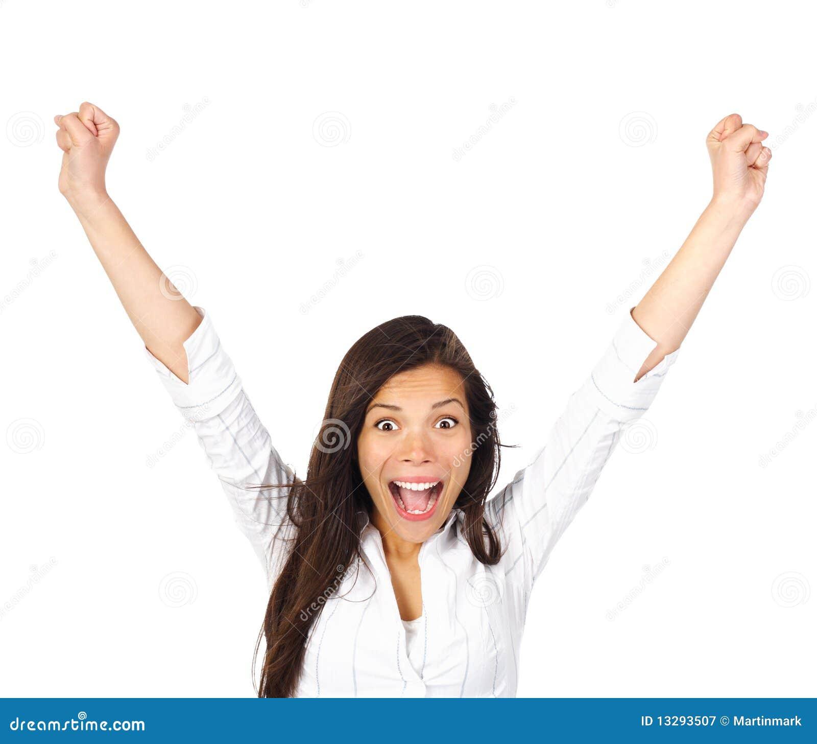 ... Winner Winning Woman Royalty Free Stock Photography - Image: 13293507