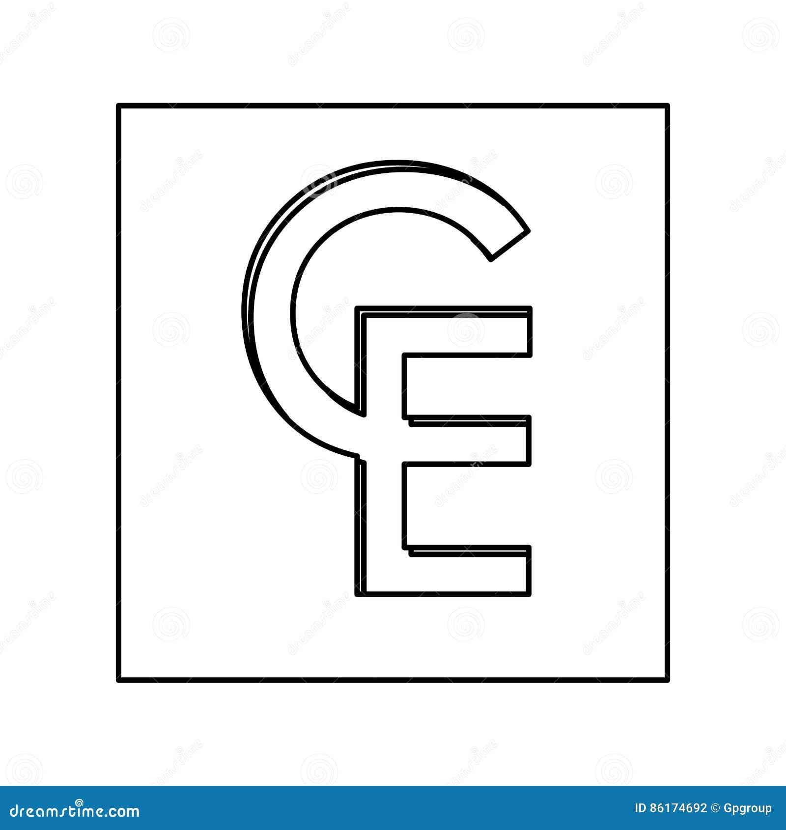 Ecu Currency Symbol Icon Stock Illustration Illustration Of Franc