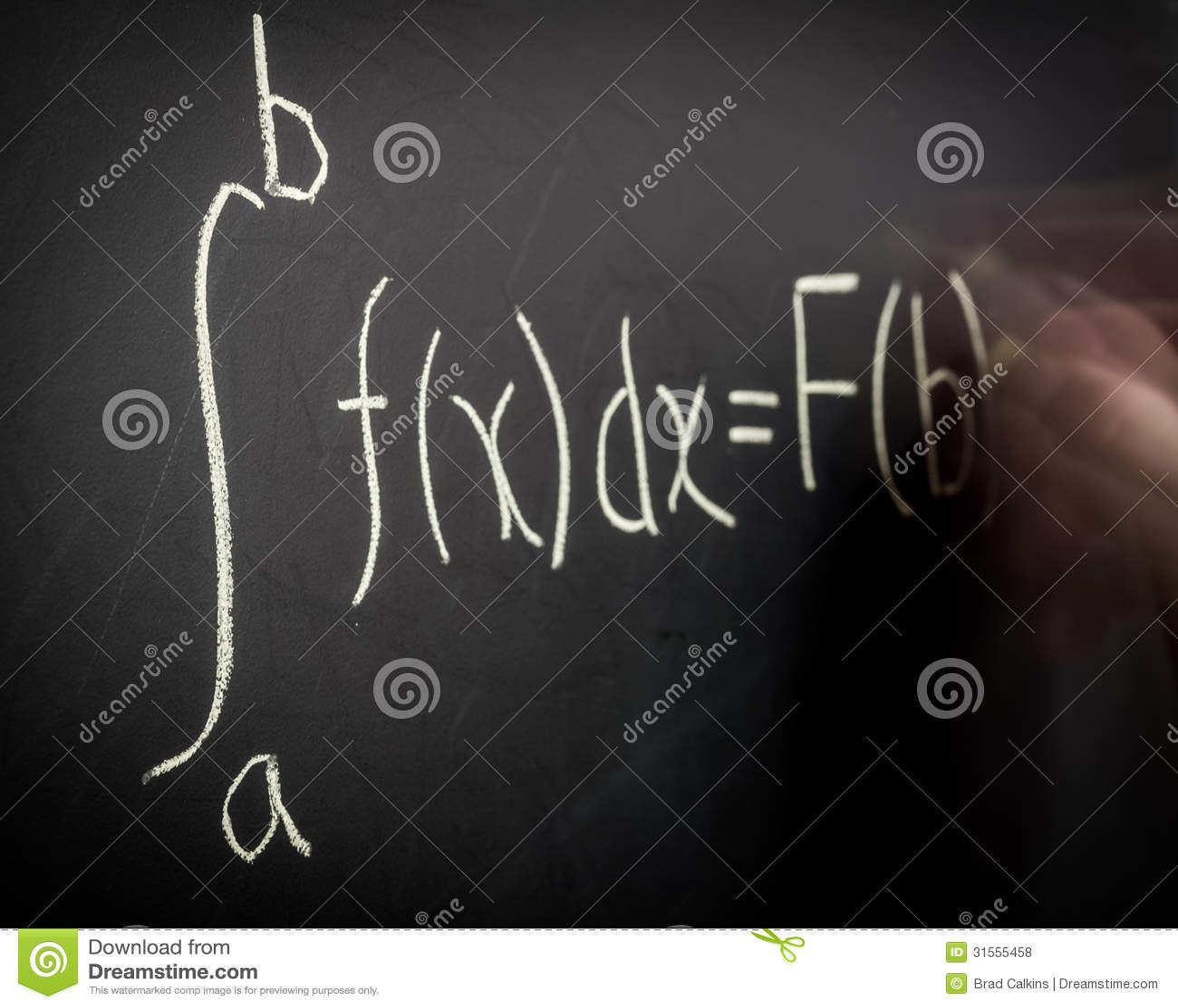 Ecuación del cálculo de la escritura