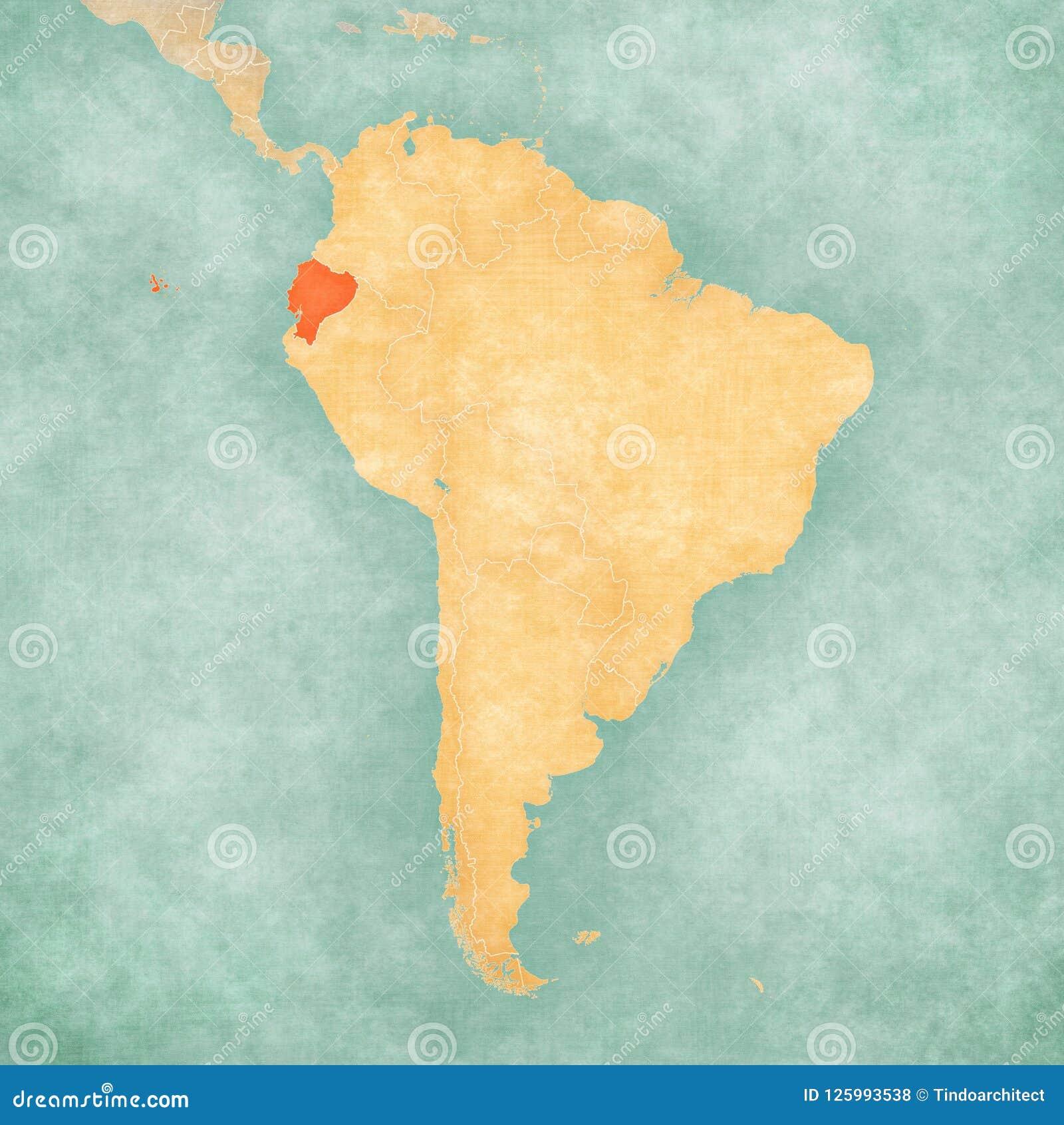 South America Map Ecuador.Map Of South America Ecuador Stock Illustration Illustration Of