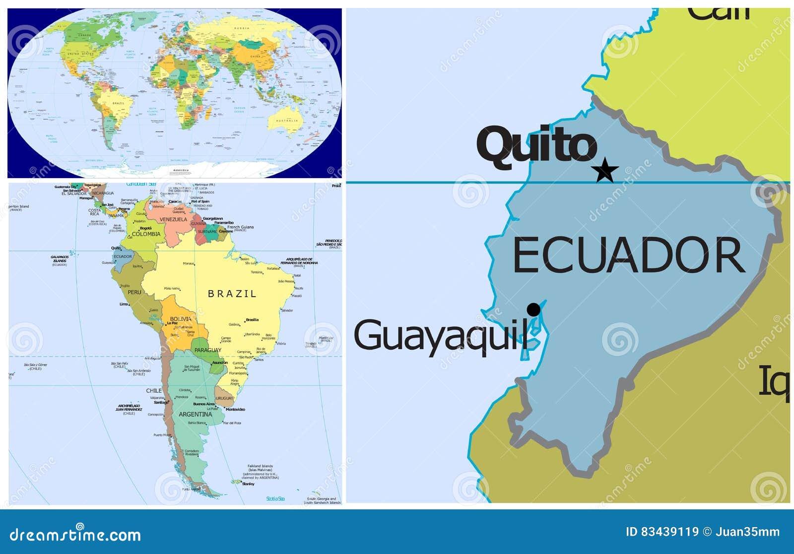 Where Is Ecuador Located On The World Map.Ecuador World Stock Illustration Illustration Of Arctic 83439119