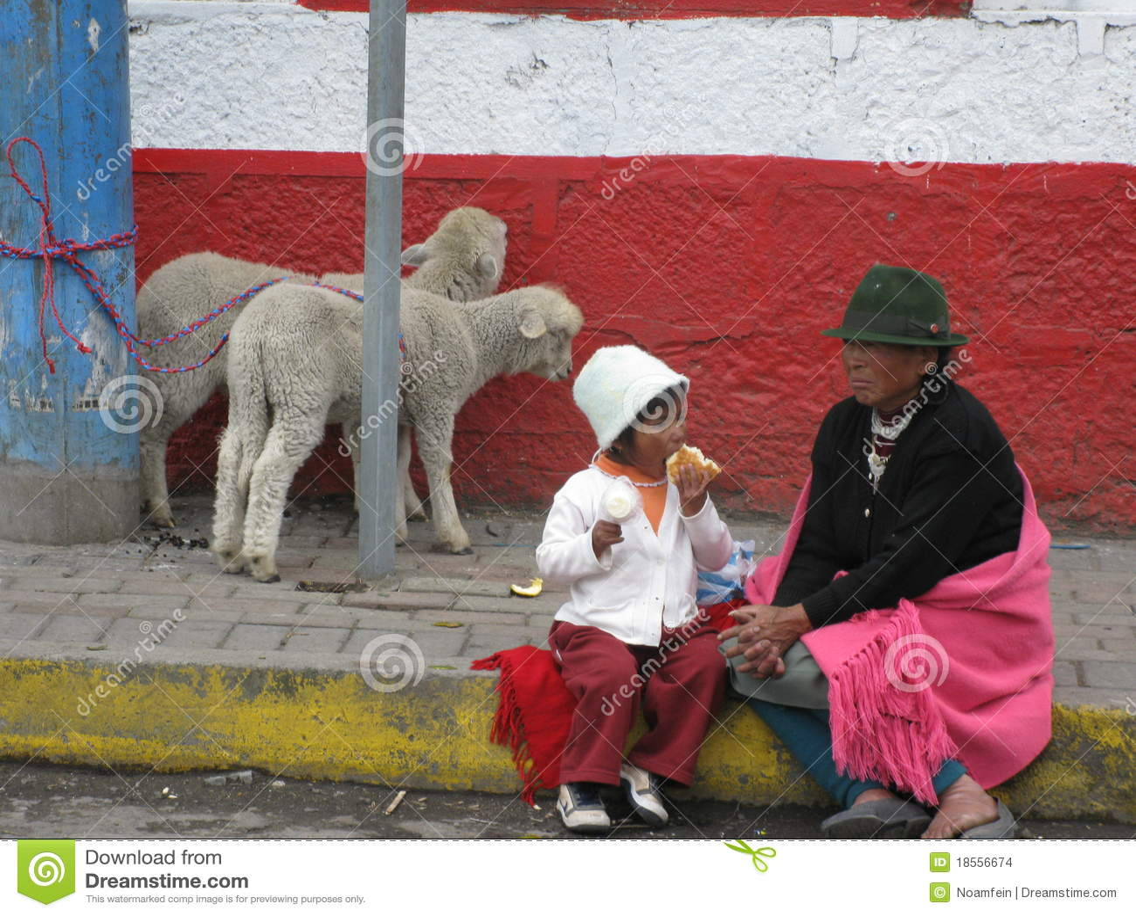Ecuadorian dzieciaka kobiety potomstwa