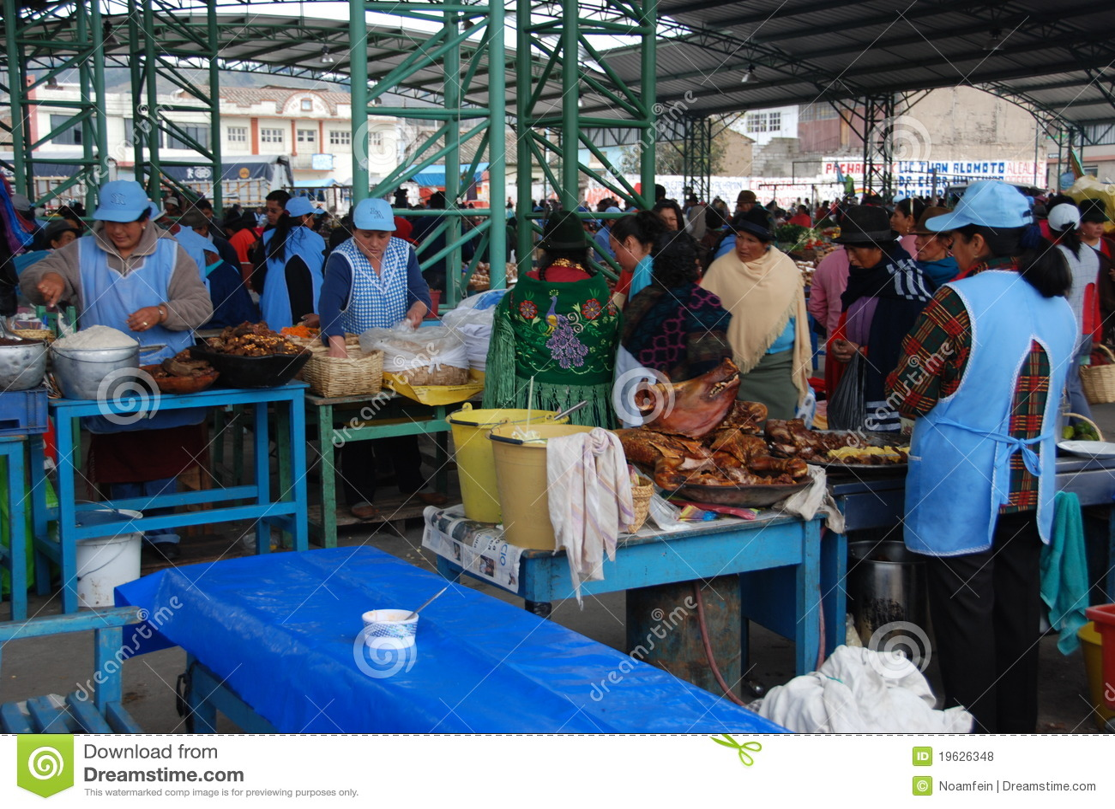 Ecuadorian miejscowego rynku ludzie