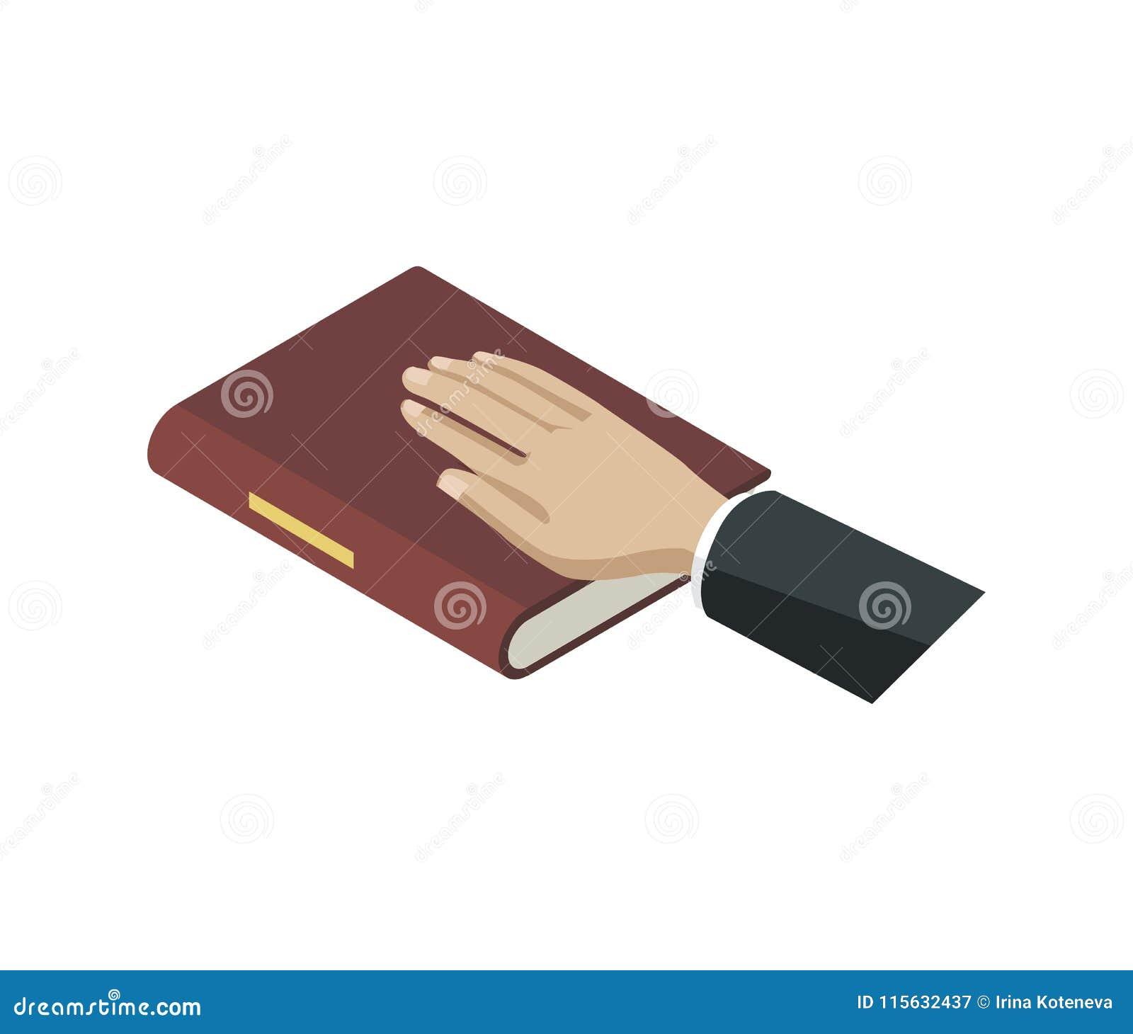 Ed av isometriska beståndsdelar 3D för bibel