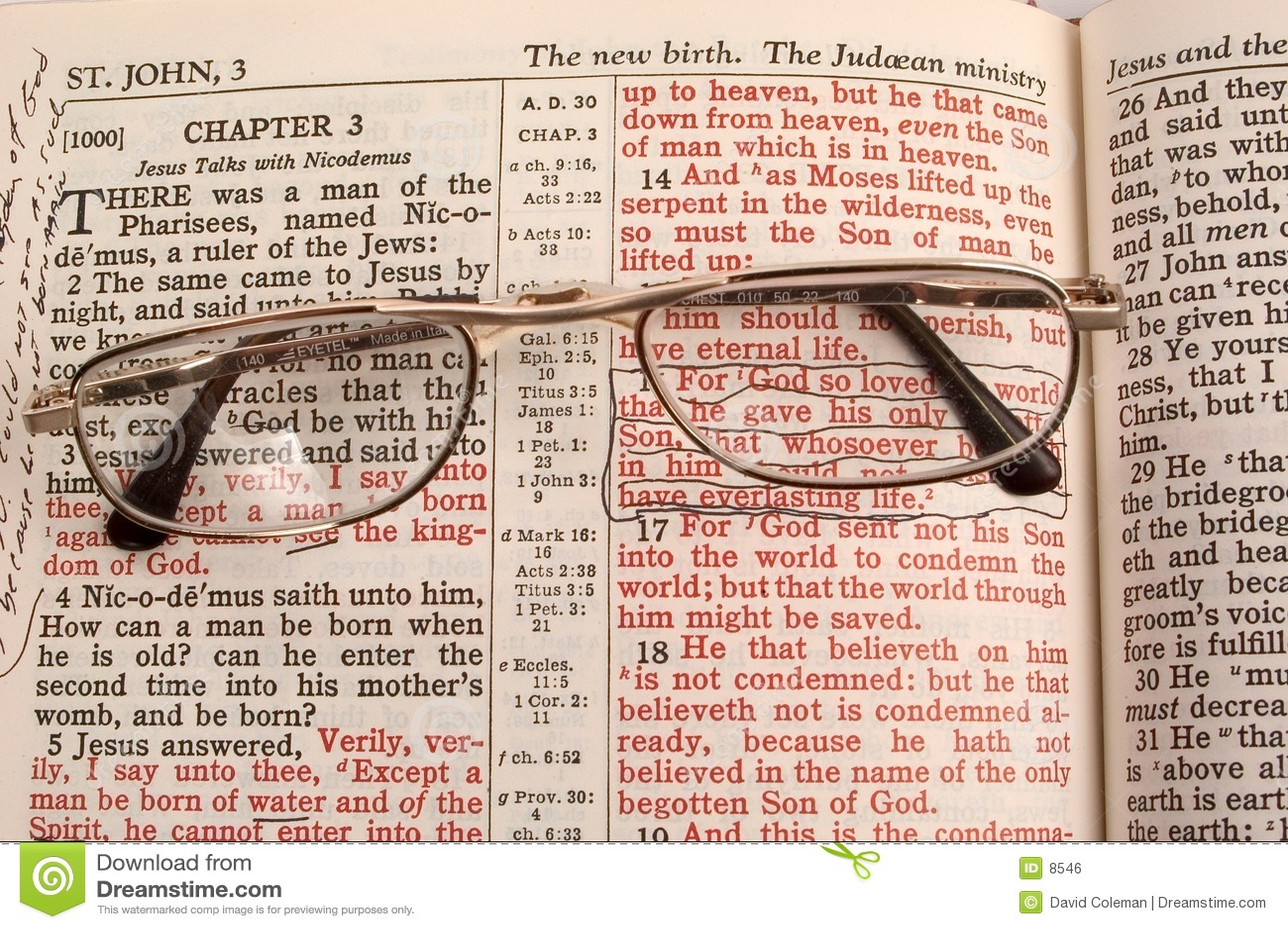 Download Ed Il Dio Così Amava Il Mondo Fotografia Stock - Immagine di bibbia, vetri: 8546