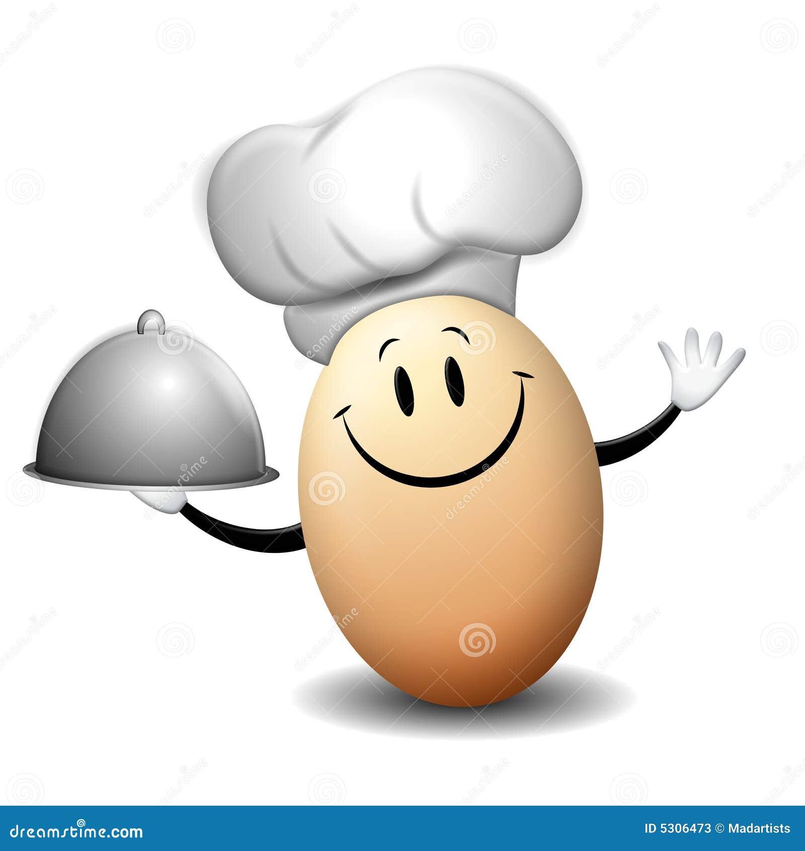 Download Eddie Il Cuoco Unico Dell'uovo Illustrazione di Stock - Illustrazione di hardboiled, chefs: 5306473