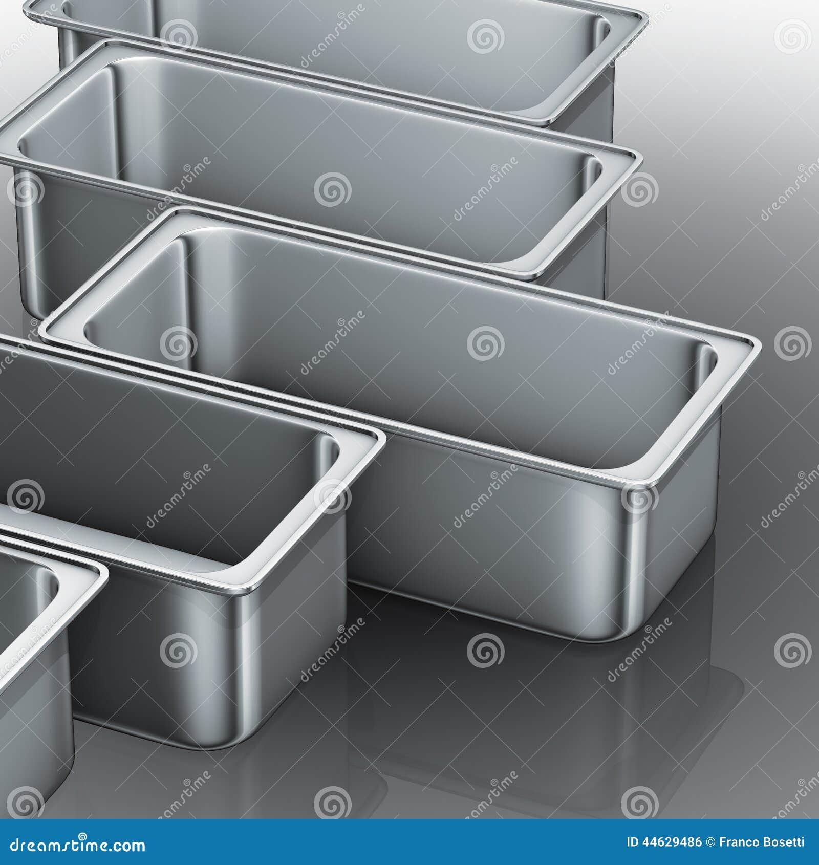edelstahlbehälter stock abbildung - bild: 44629486 - Edelstahlbehälter Küche