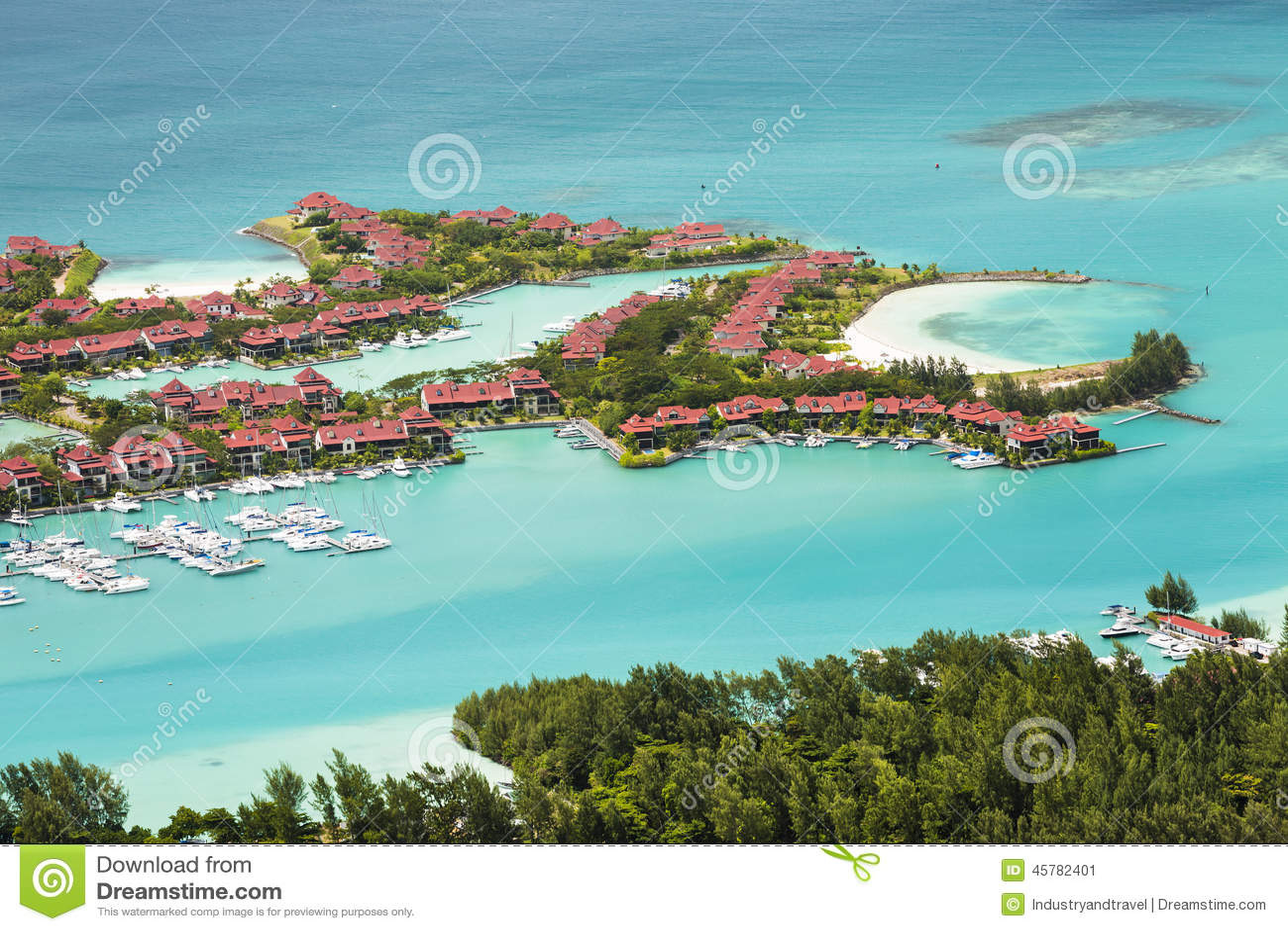 Eden island mahe seychelles stock photo image 45782401 - Eden island seychelles ...