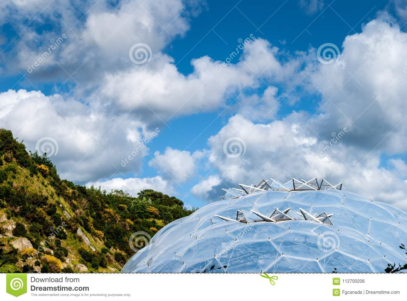Download Closeup Of Hexagonal Biodome Structure Eden Project Editorial Photo