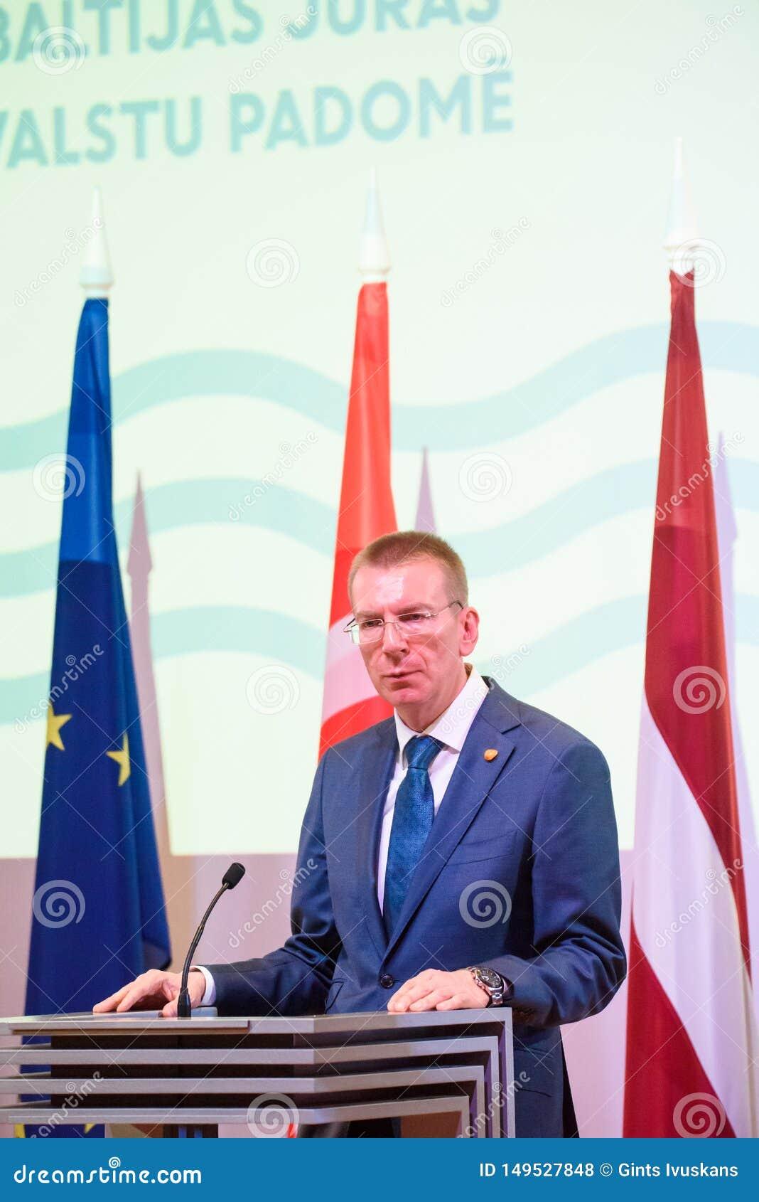 Edgars Rinkevics, Au?enminister von Lettland