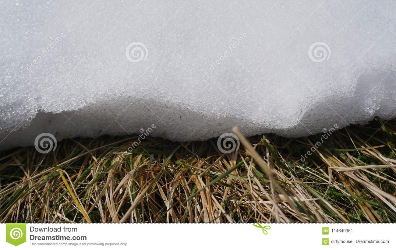 Download Edge of a snow drift stock image. Image of frozen, nature - 114640961