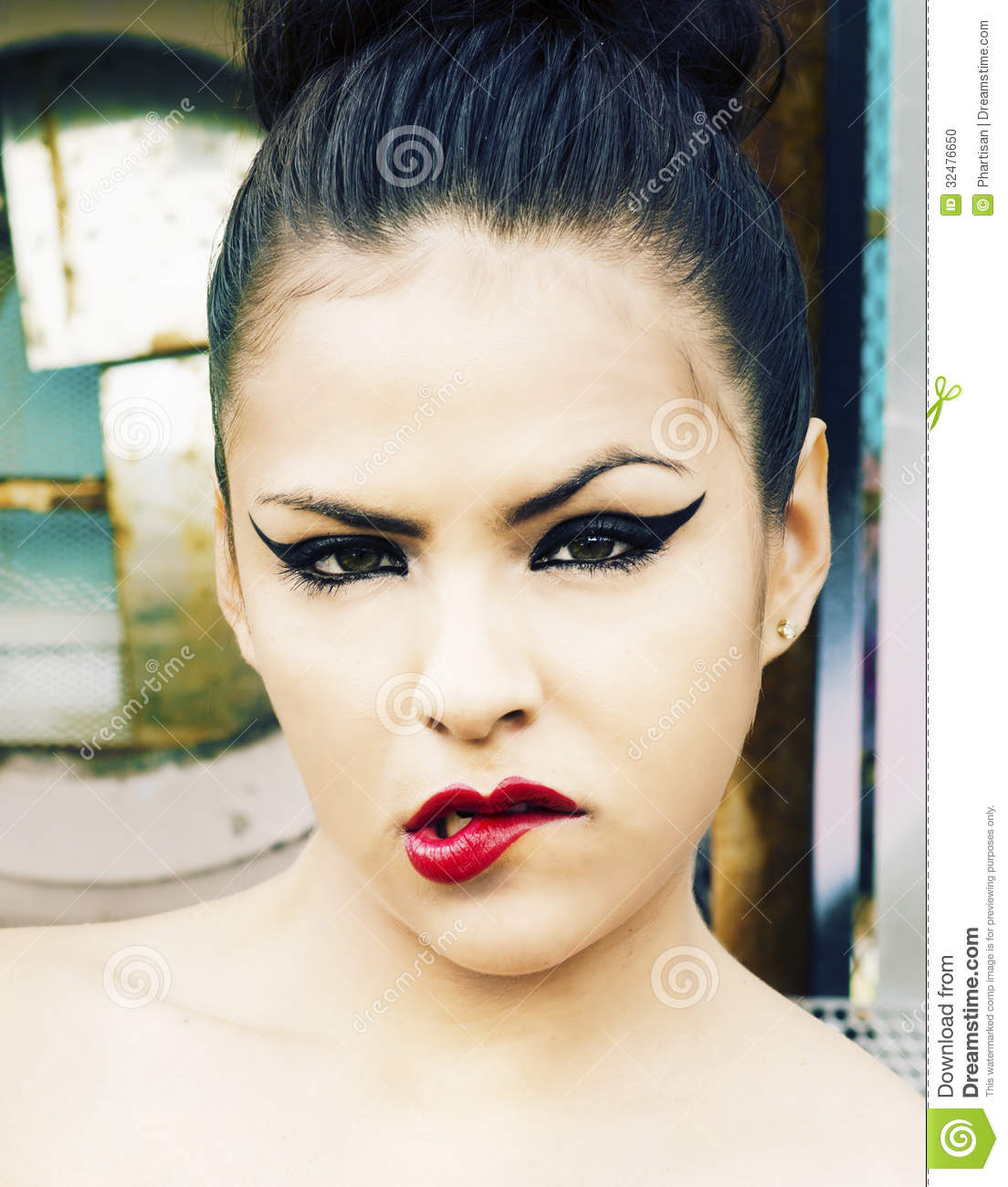 Edgy Fashion Portrait Of Young Woman Stock Photo - Image 32476650
