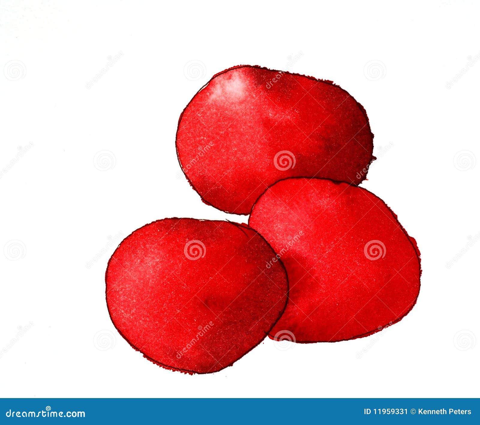 Edibles genéricos vermelhos