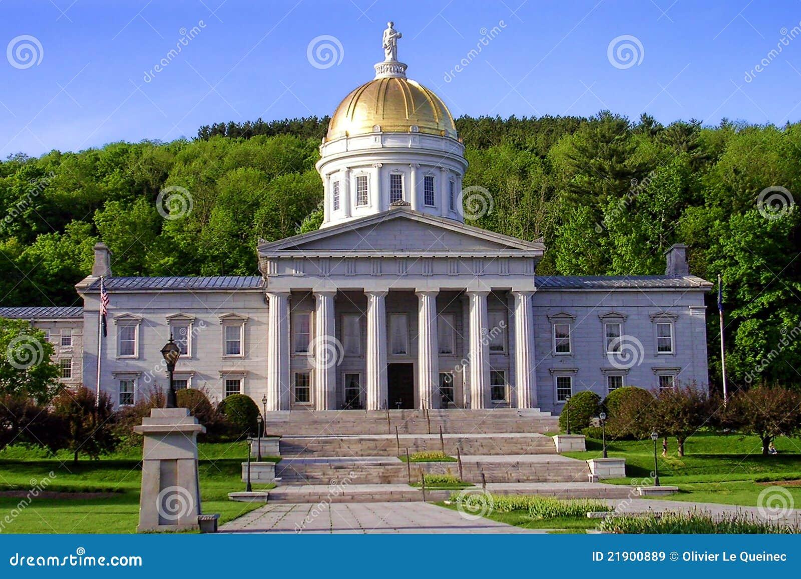 Edifício do Capitólio do estado de Vermont em Montpelier