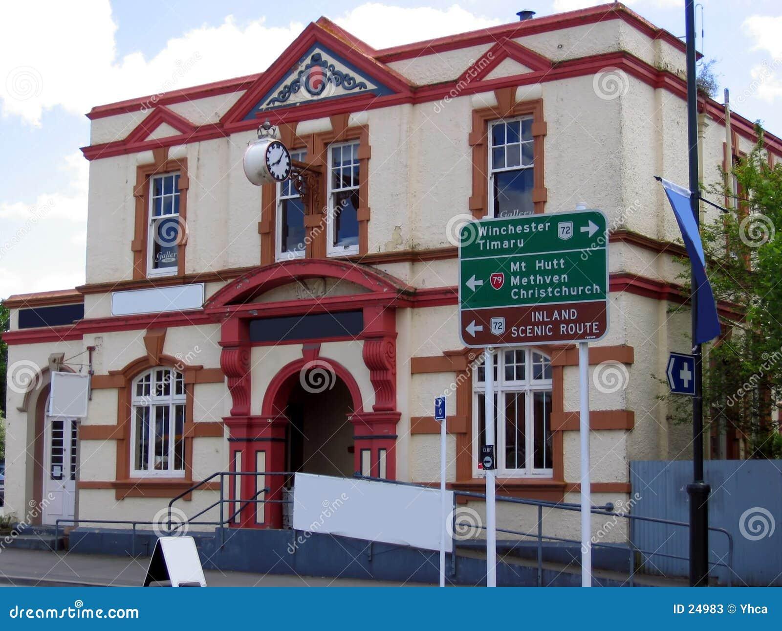 Edifício velho em Nova Zelândia