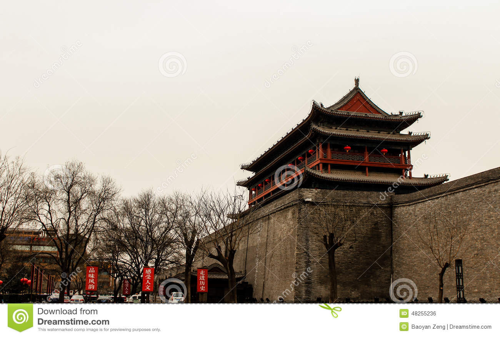Edifícios antigos chineses