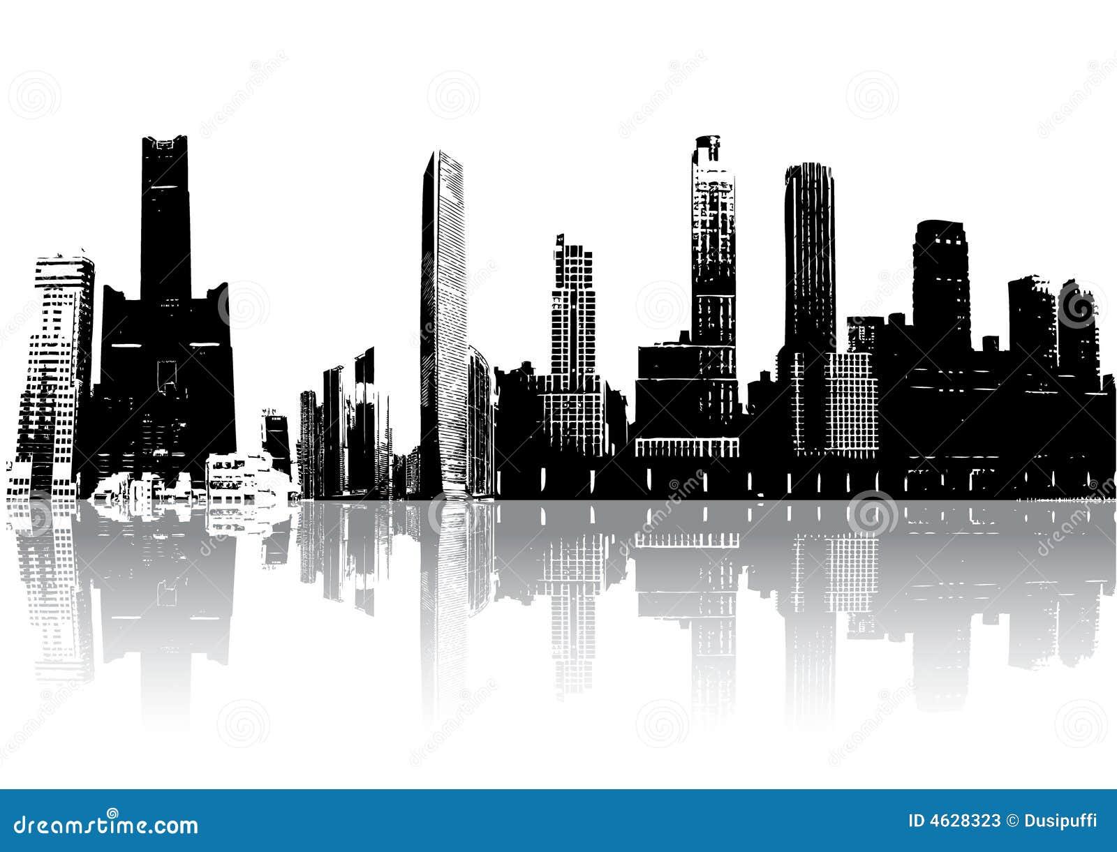 Edifícios da silhueta