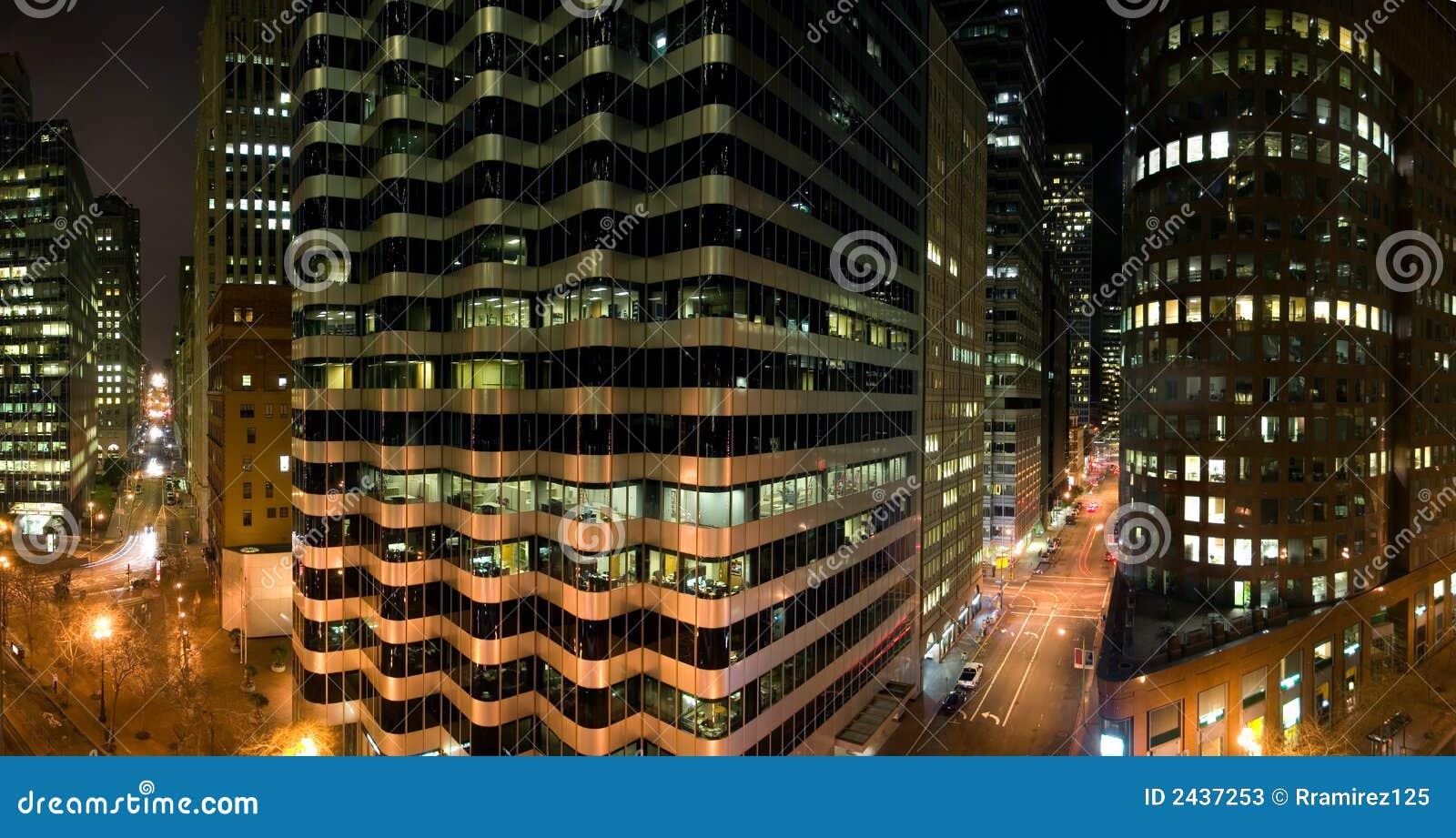 Edifícios na noite