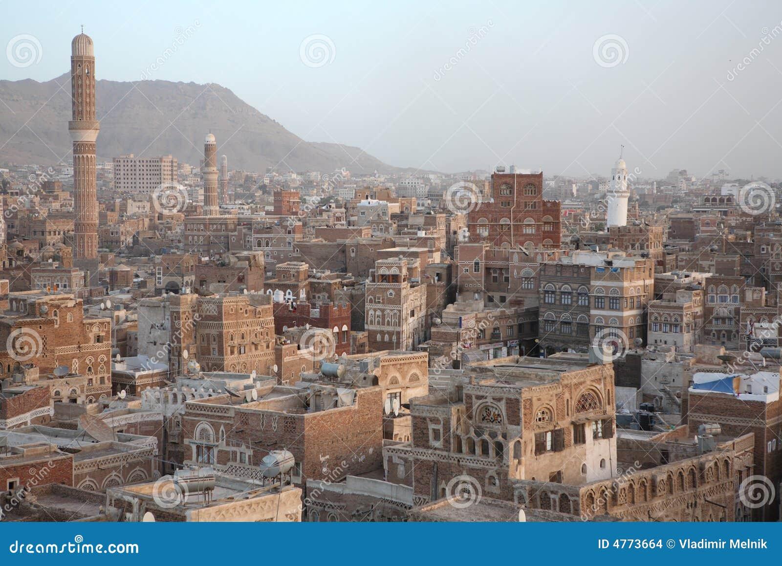 Edifícios velhos de Sanaa