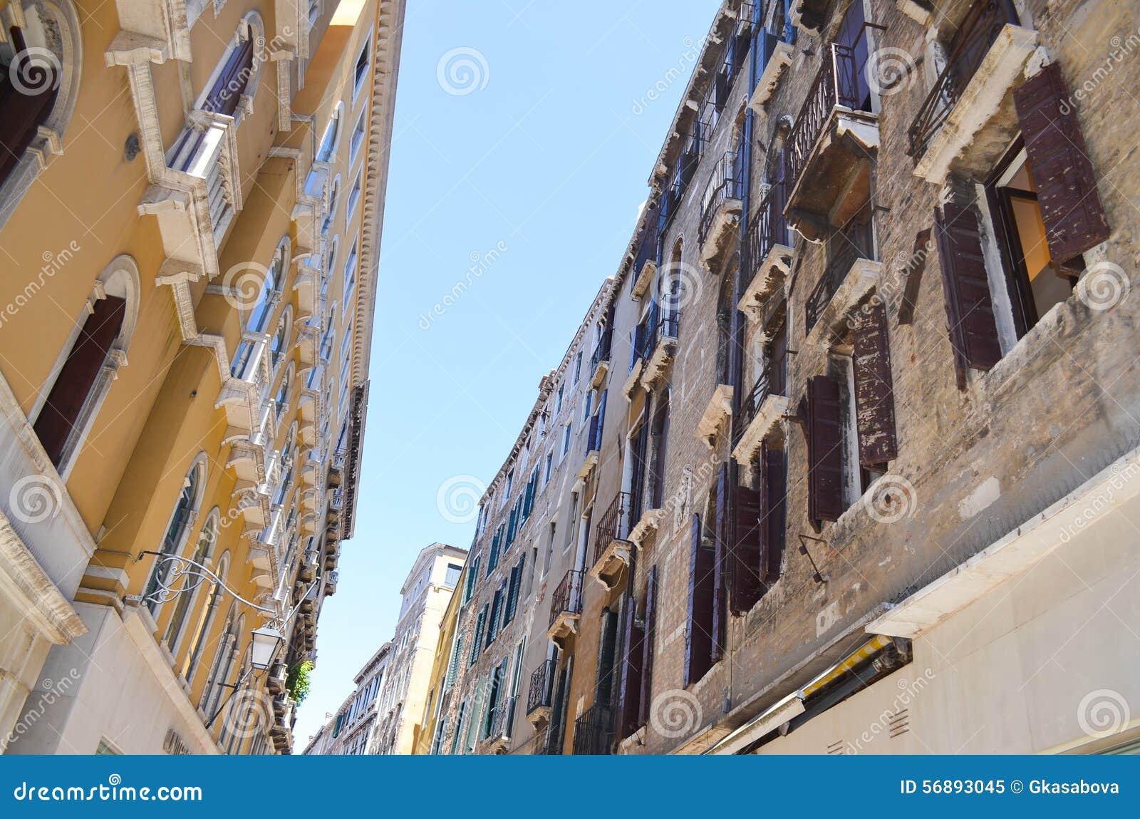 Edifici di Tipical a Venezia, Italia