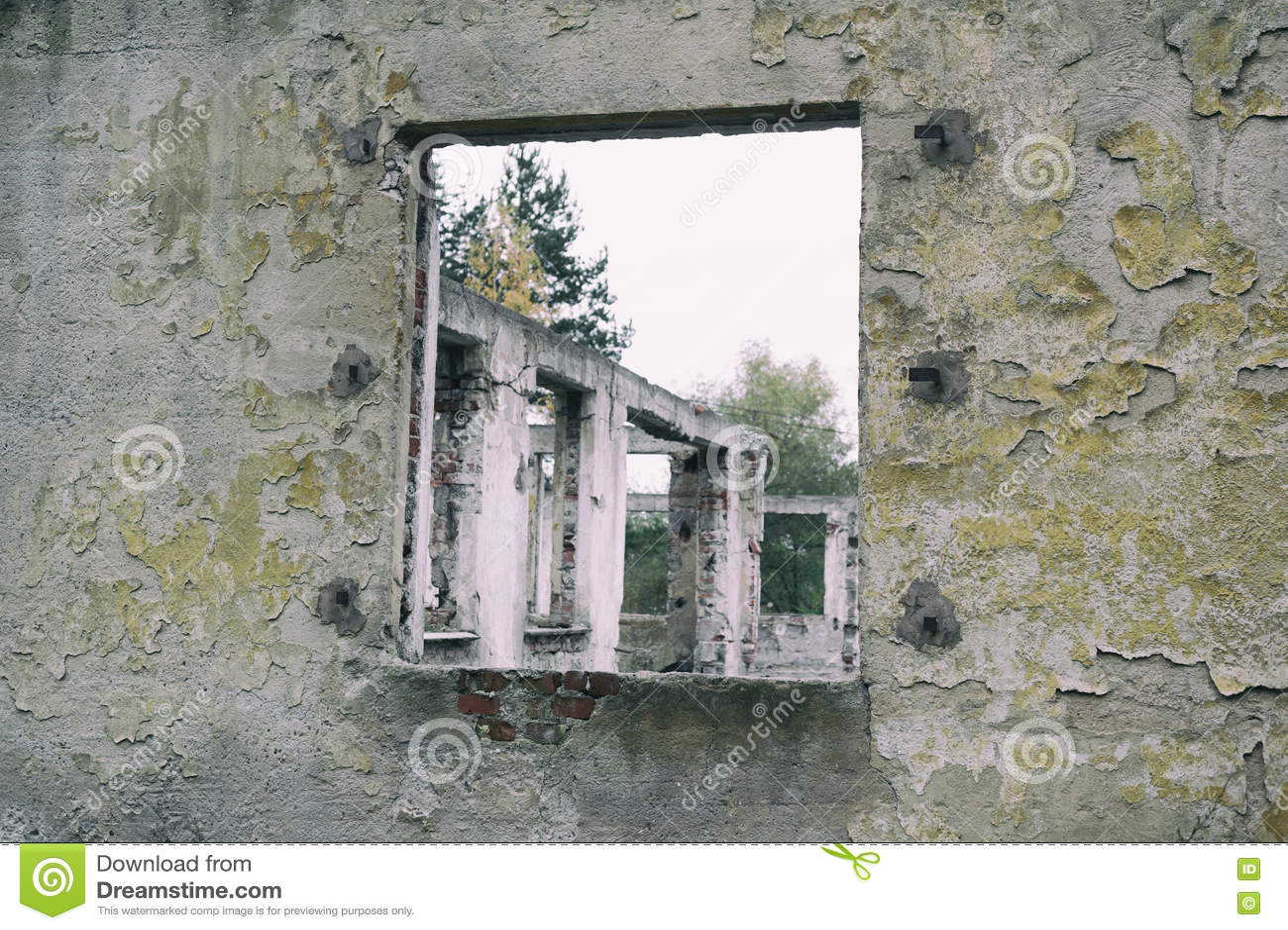 Edificio abandonado viejo