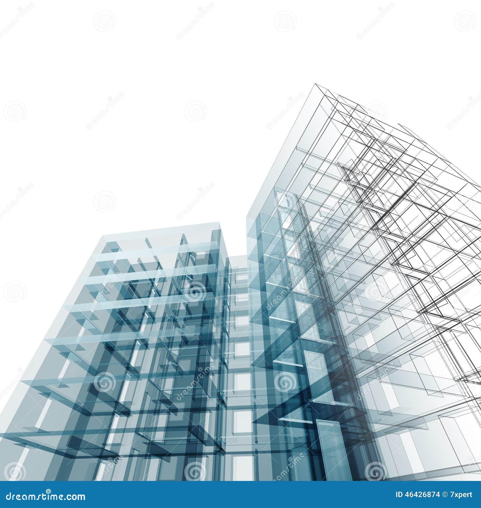 Building Design Software Freeware: Edificio Abstracto Stock De Ilustración. Ilustración De