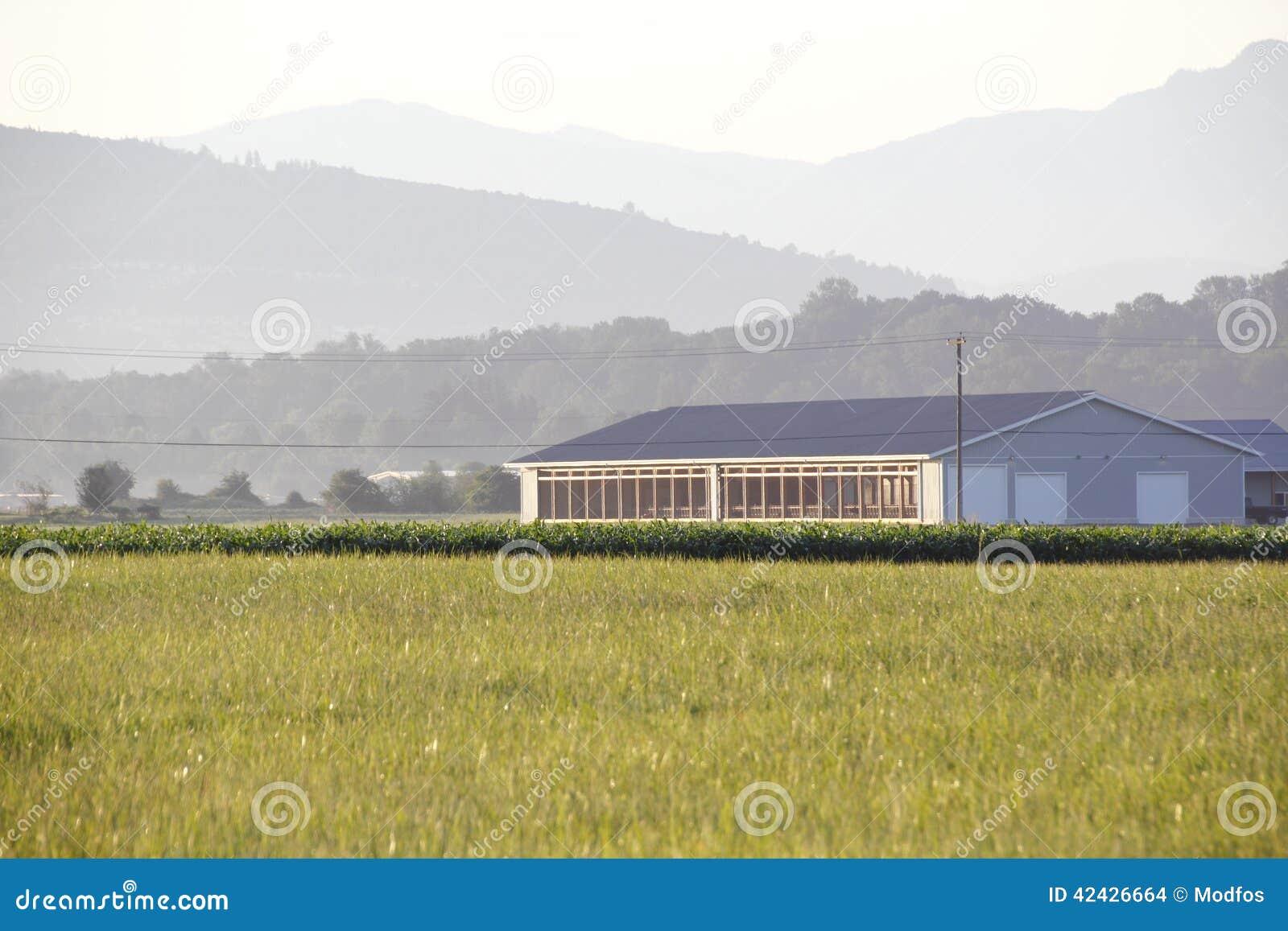 Edificio agrícola moderno