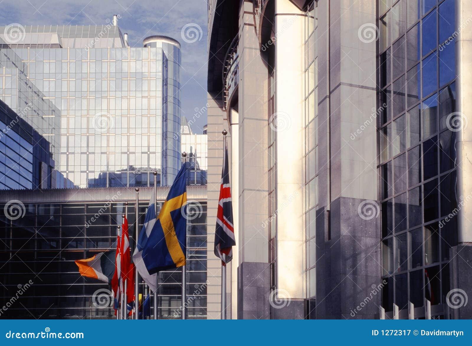 Edificio Bruselas Bélgica Europa del parlamento del Eu