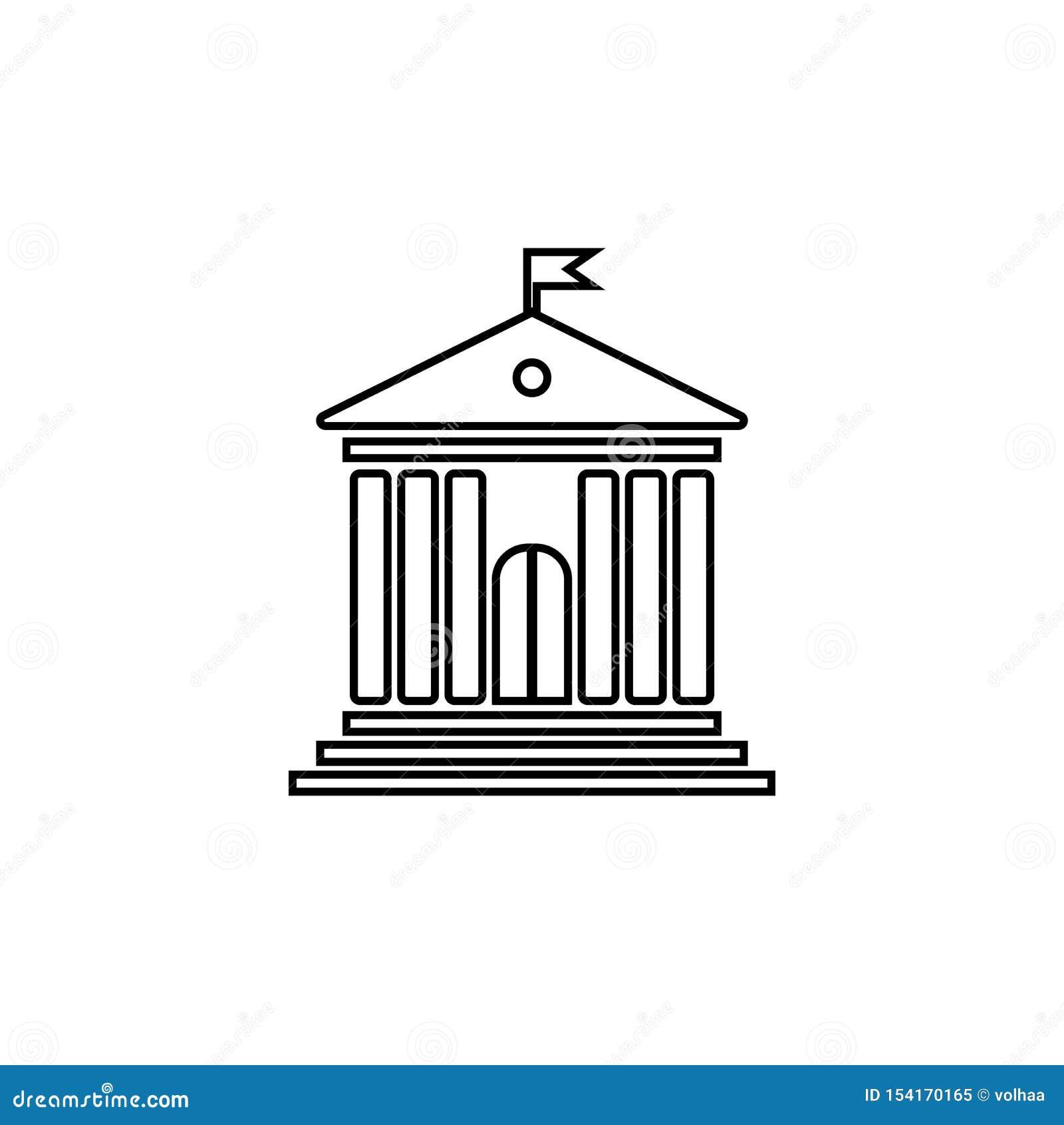 Edificio de la administración con los pilares