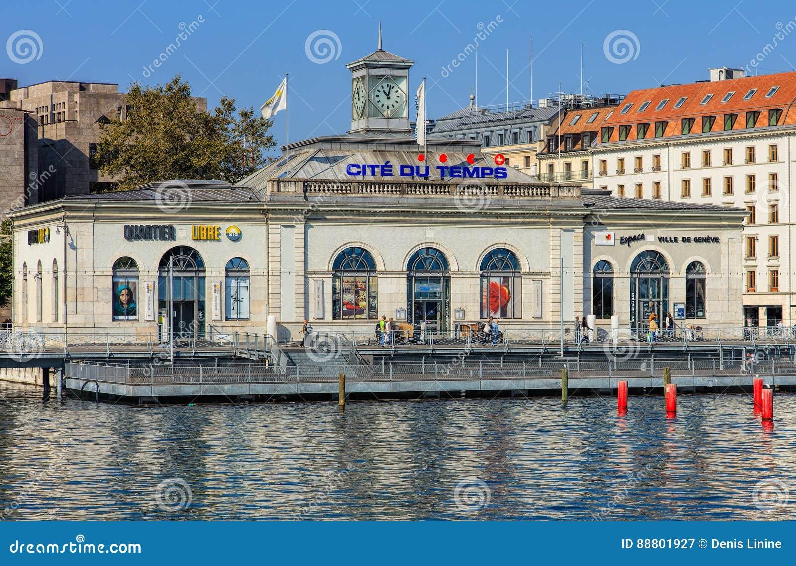Edificio de La Cite du Temps en la ciudad de Ginebra, Suiza