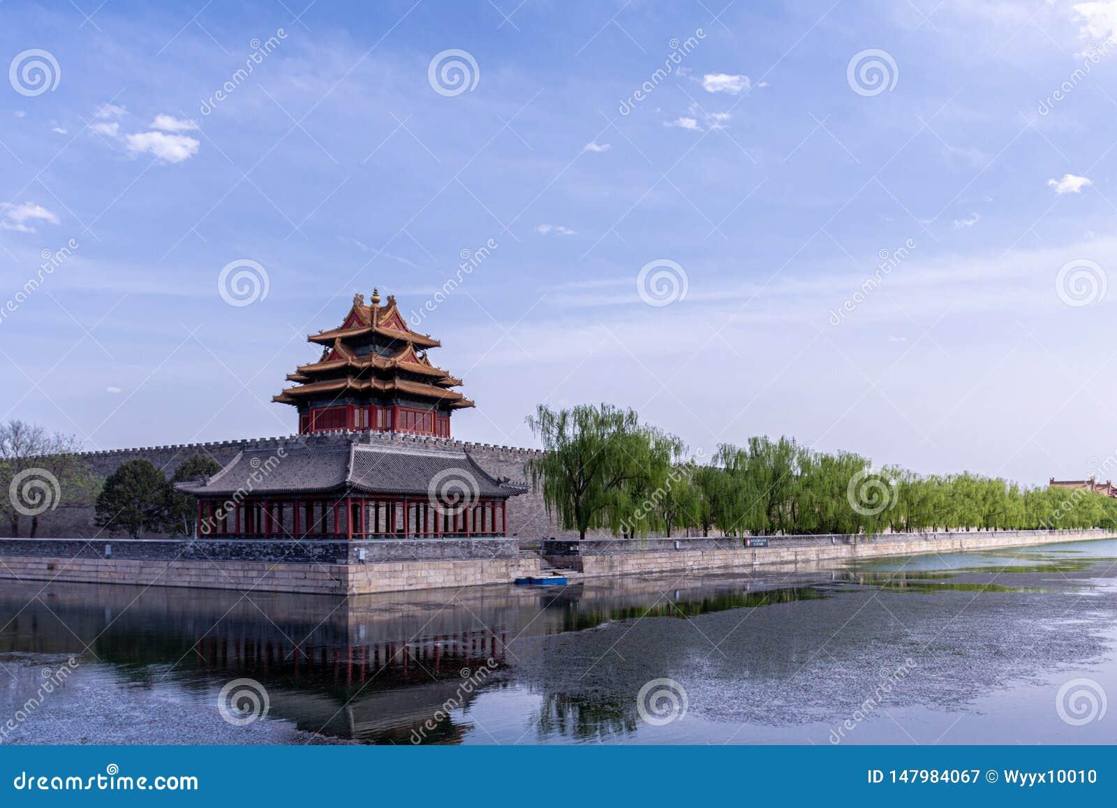 Edificio de la esquina de Pekín la ciudad Prohibida