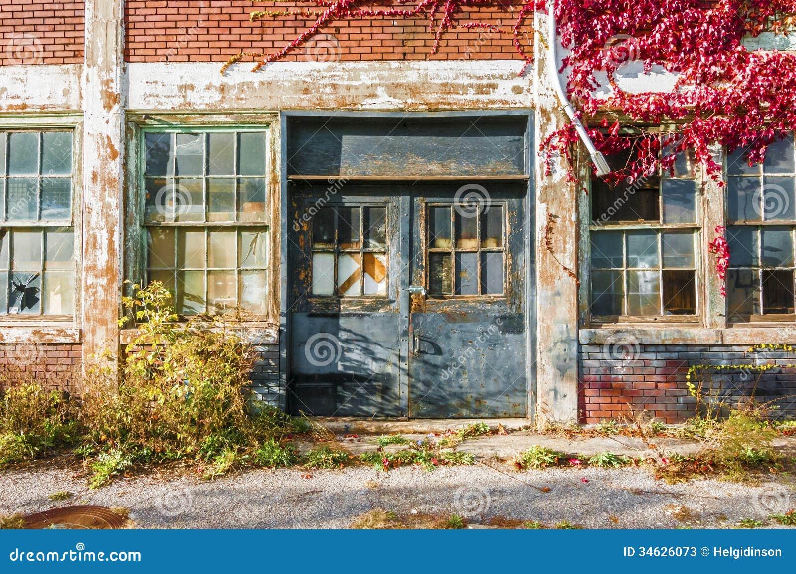 Edificio de la fábrica de Abandone