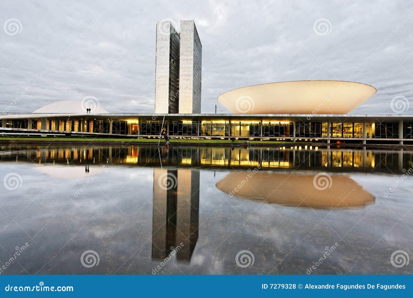 Edificio del congreso en Brasilia