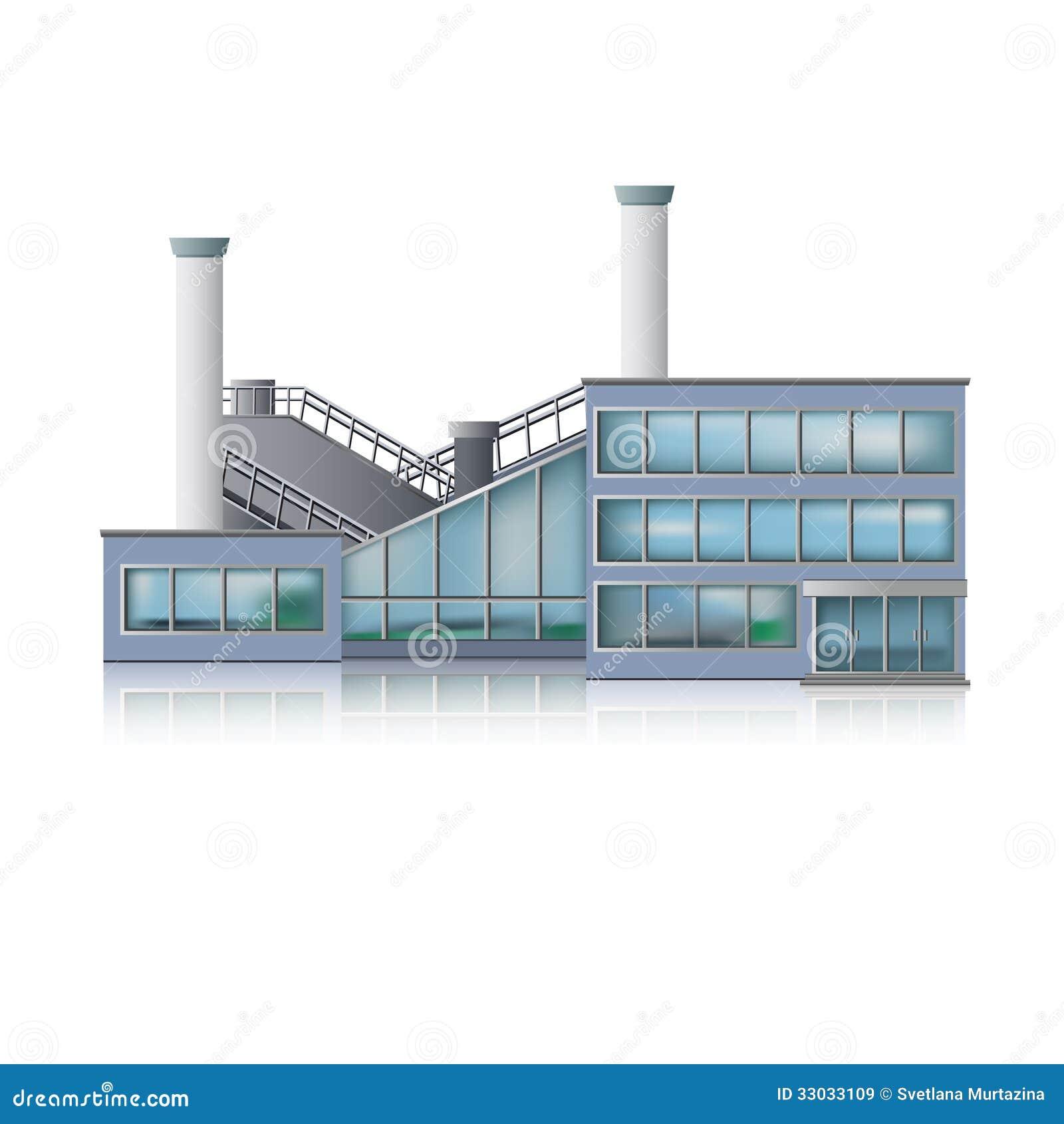 Edificio del fábrica del icono y de oficinas