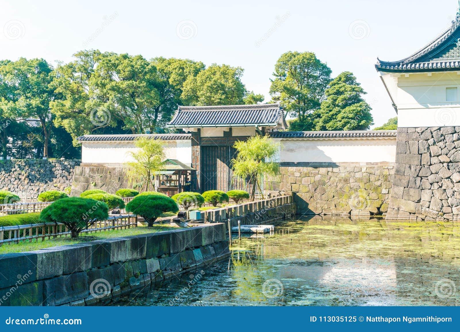 Edificio imperial hermoso del palacio en Tokio