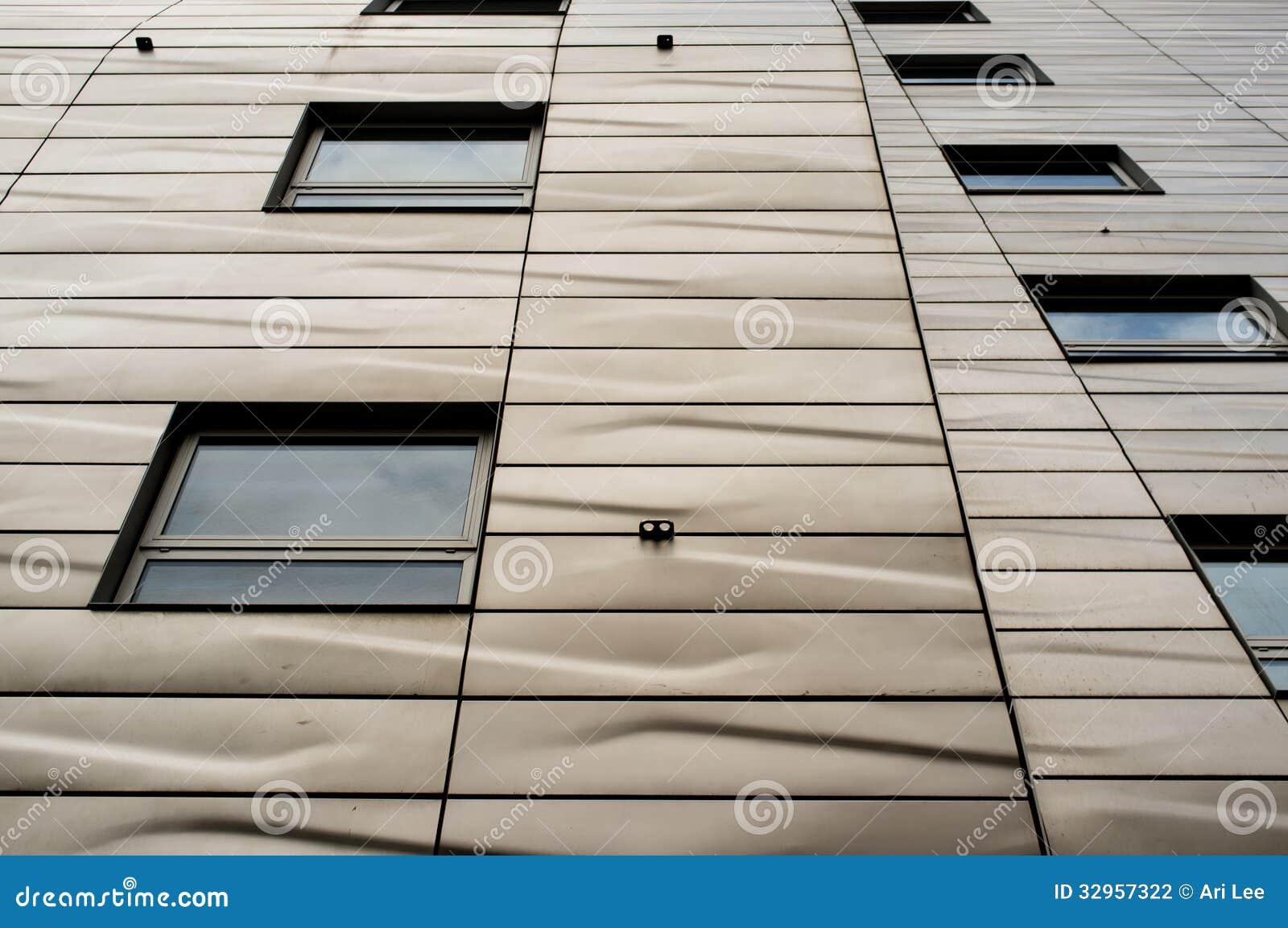 Edificio moderno con textura arquitectónica