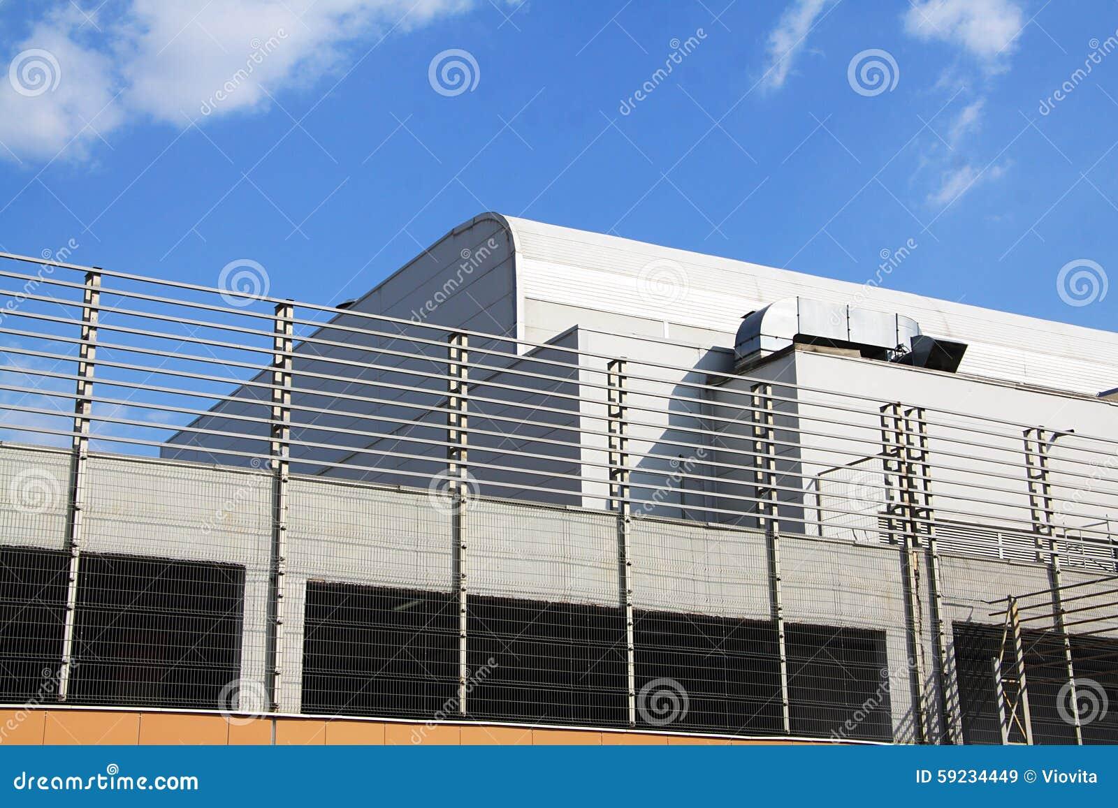 Edificio moderno de la alta tecnología