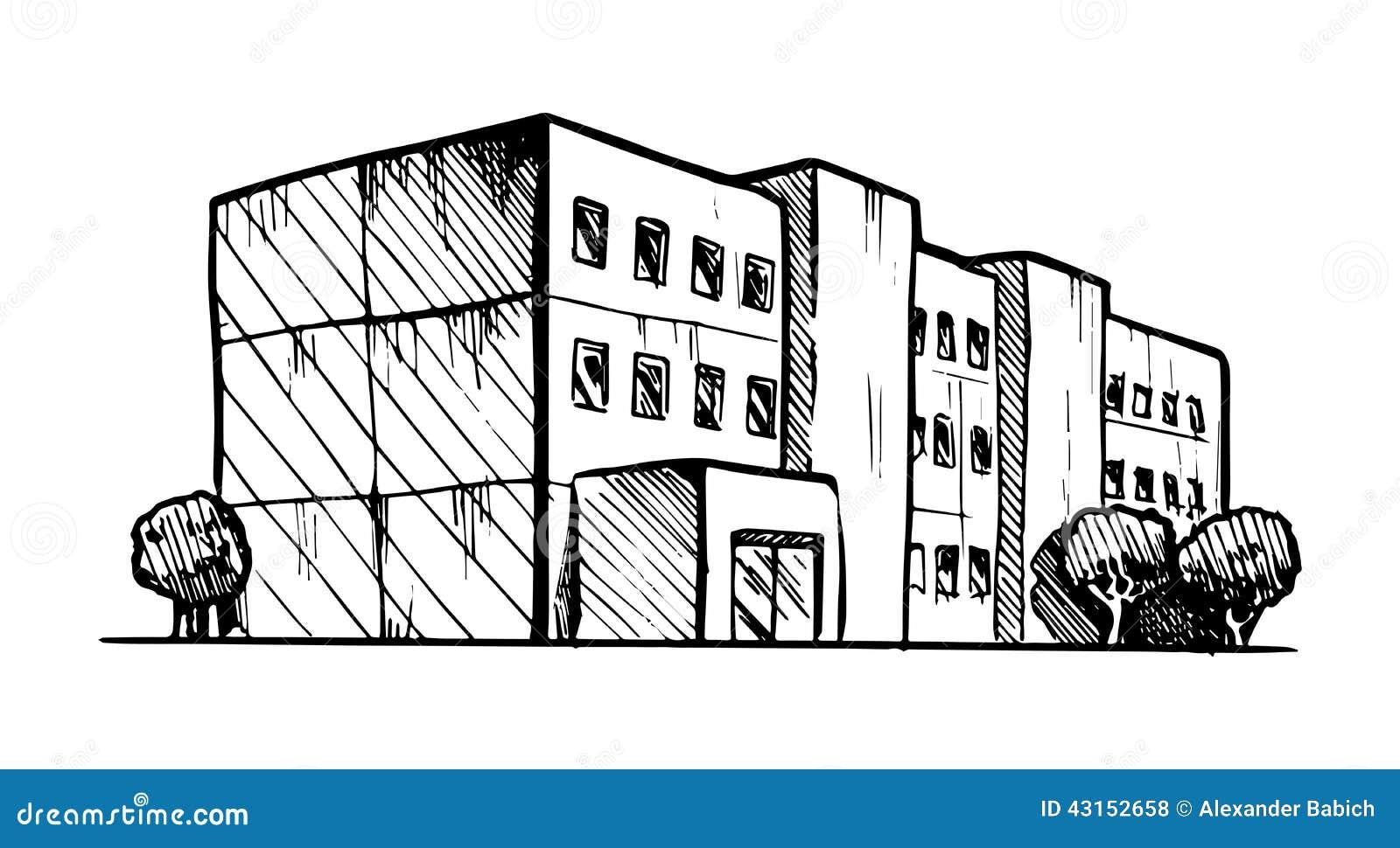 Edificio Residenziale Illustrazione Vettoriale - Immagine ...