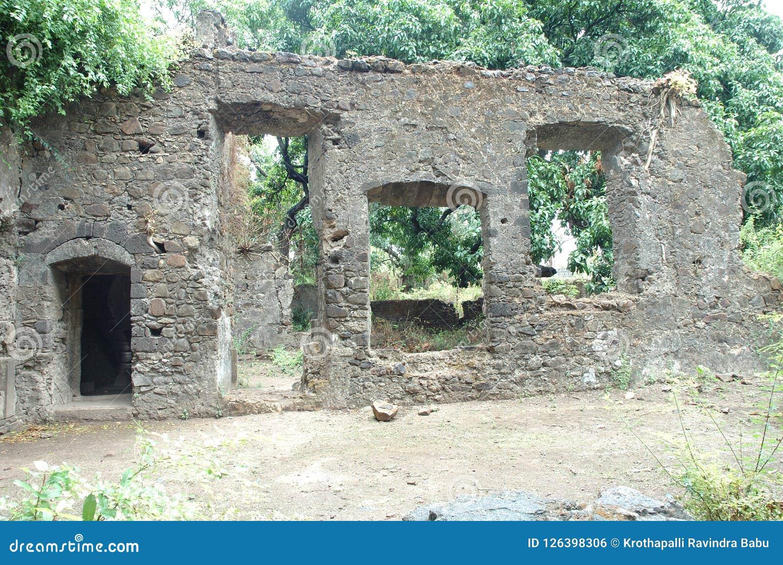 Edificio viejo del fantasma en la India Imagen de archivo libre de regalías