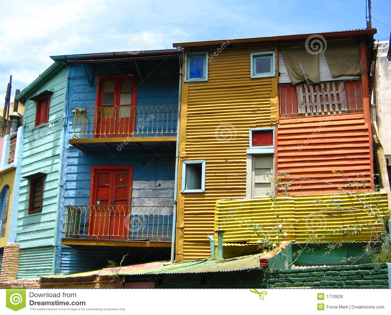 Edificios coloridos en el La Boca, Buenos Aires