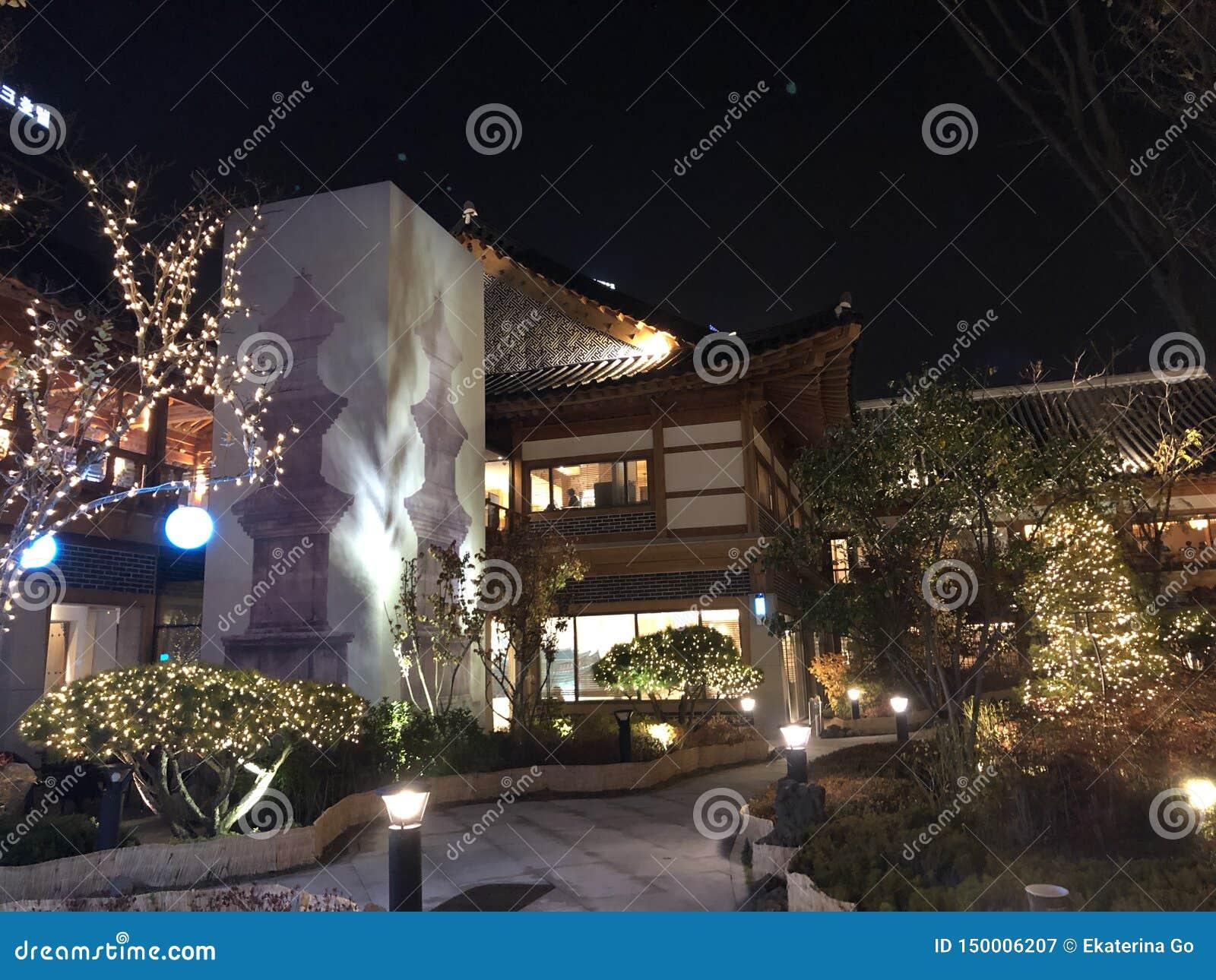 Edificios coreanos tradicionales en Inchon