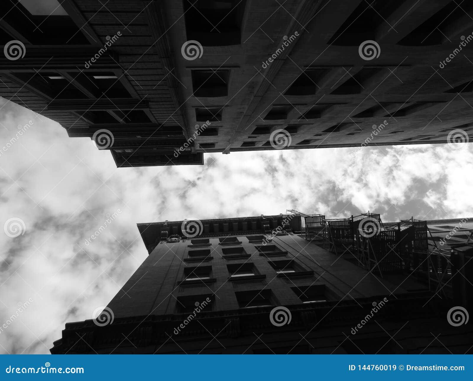 Edificios de convergencia en la ciudad de plumón San Antonio