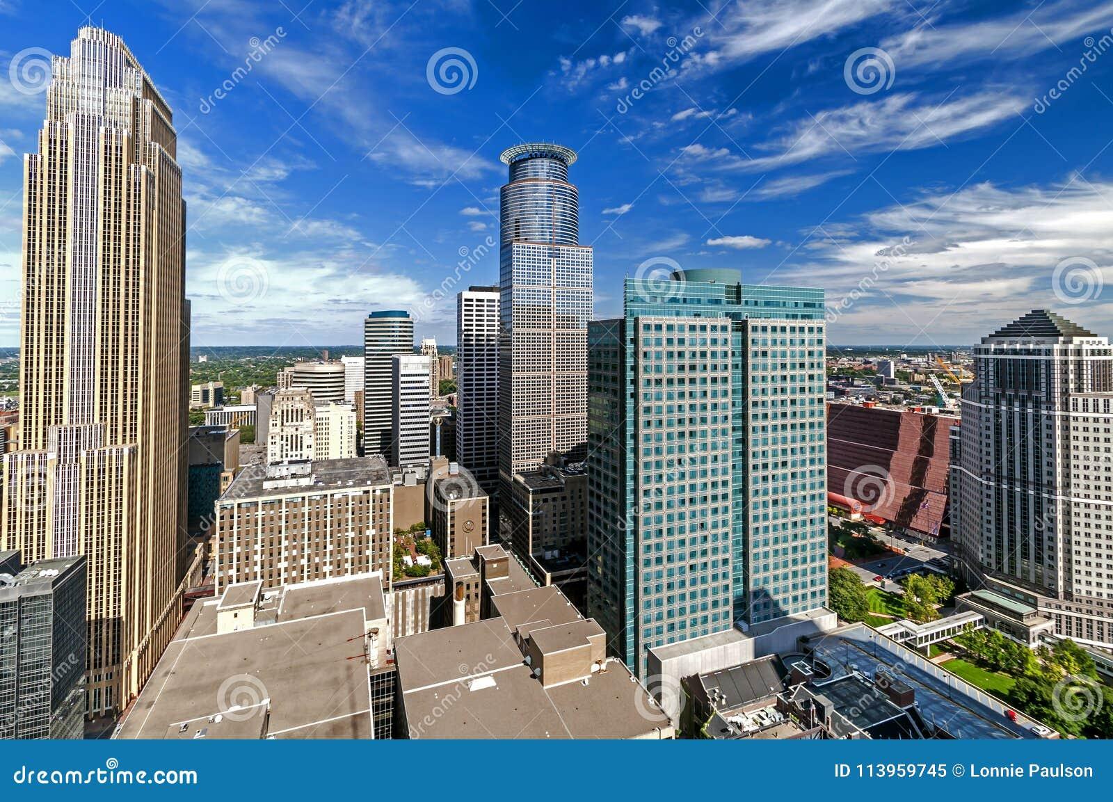 Edificios de desatención Minneapolis céntrica, Minnesota