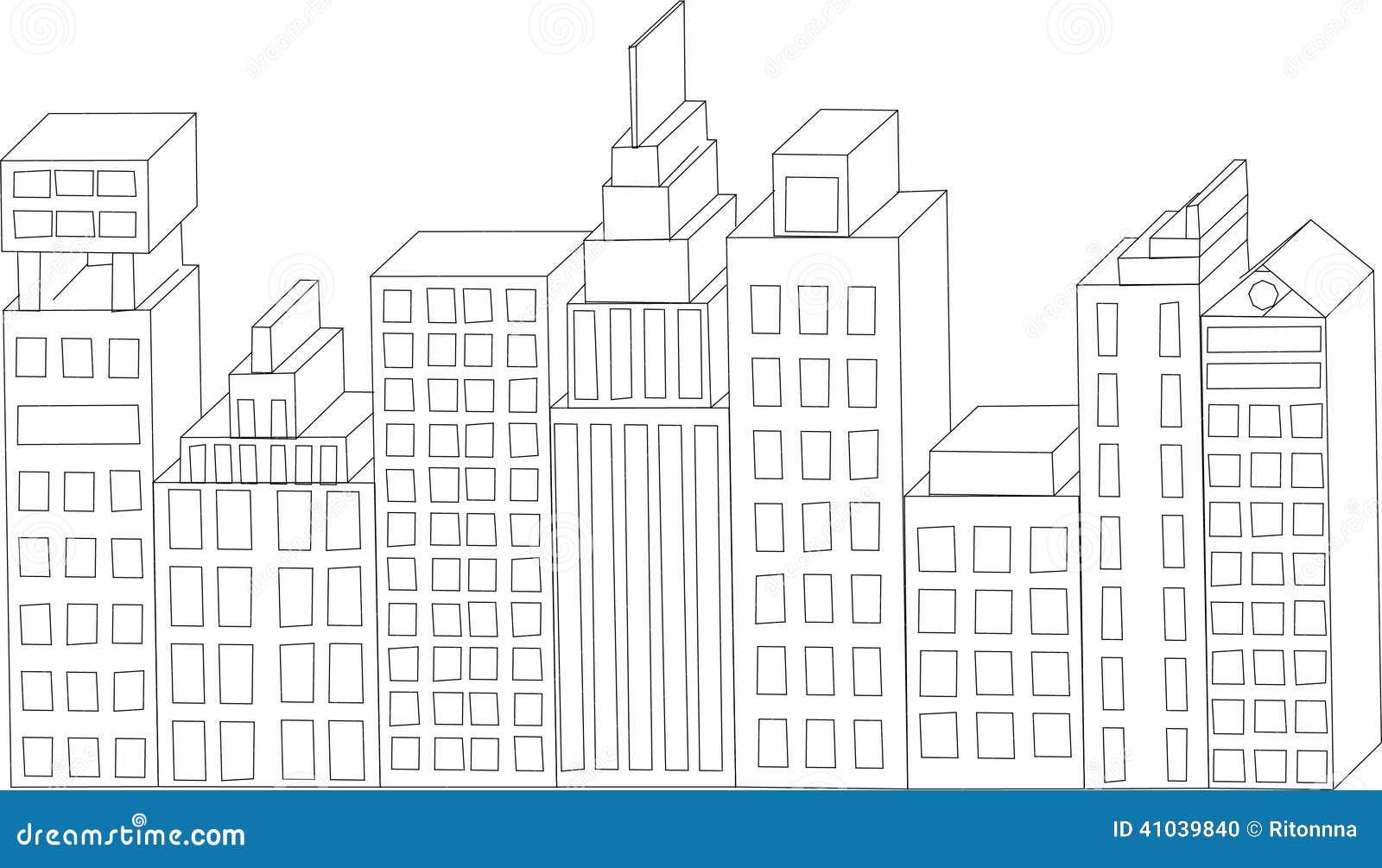 Edificios Del Vector Horizonte De La Ciudad Resumen De La ...